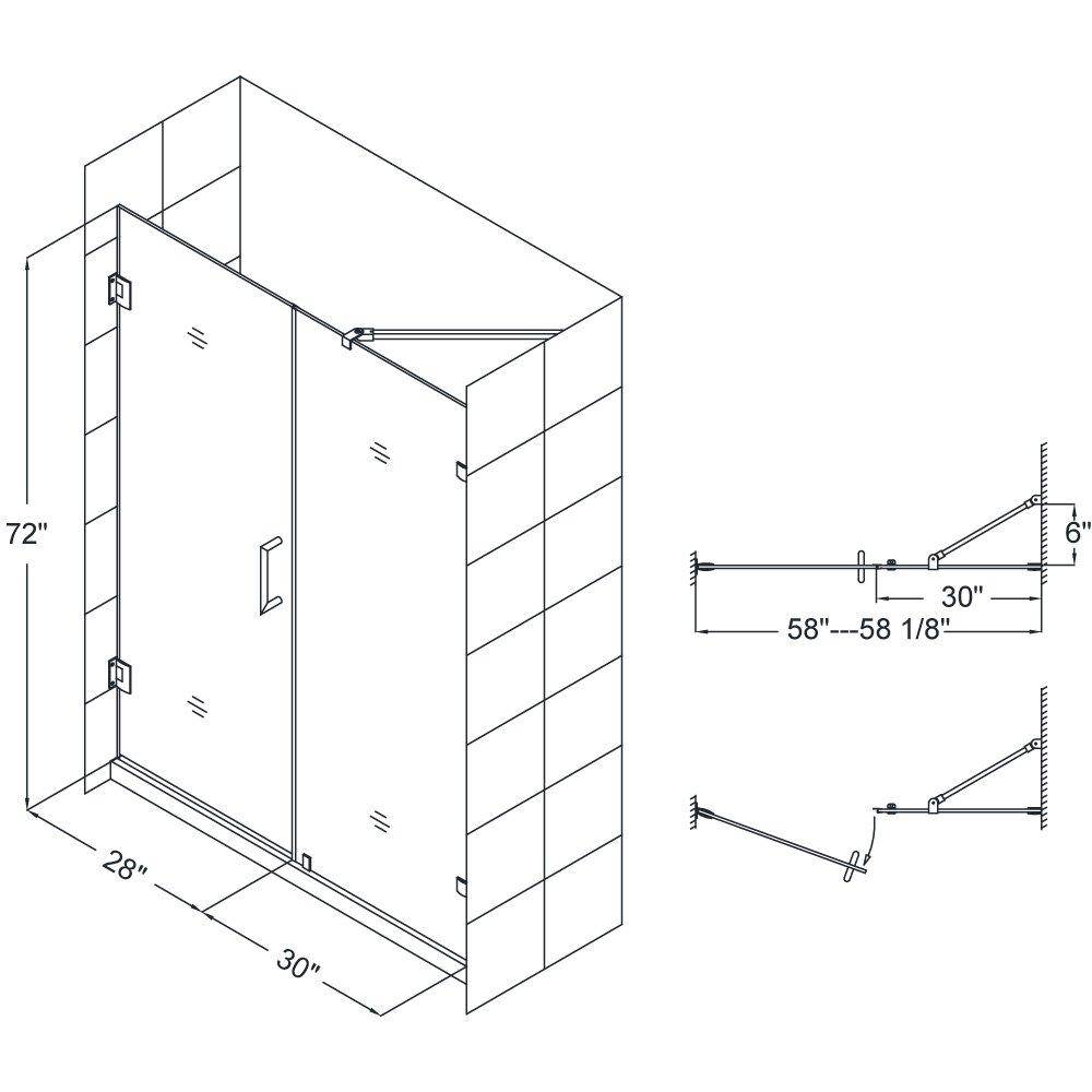 Dreamline Replacement Parts : Dreamline unidoor lux quot frameless hinged shower