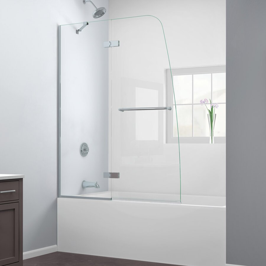 Dreamline Aqua Ultra 48 Quot X 58 Quot Hinged Frameless Tub Door