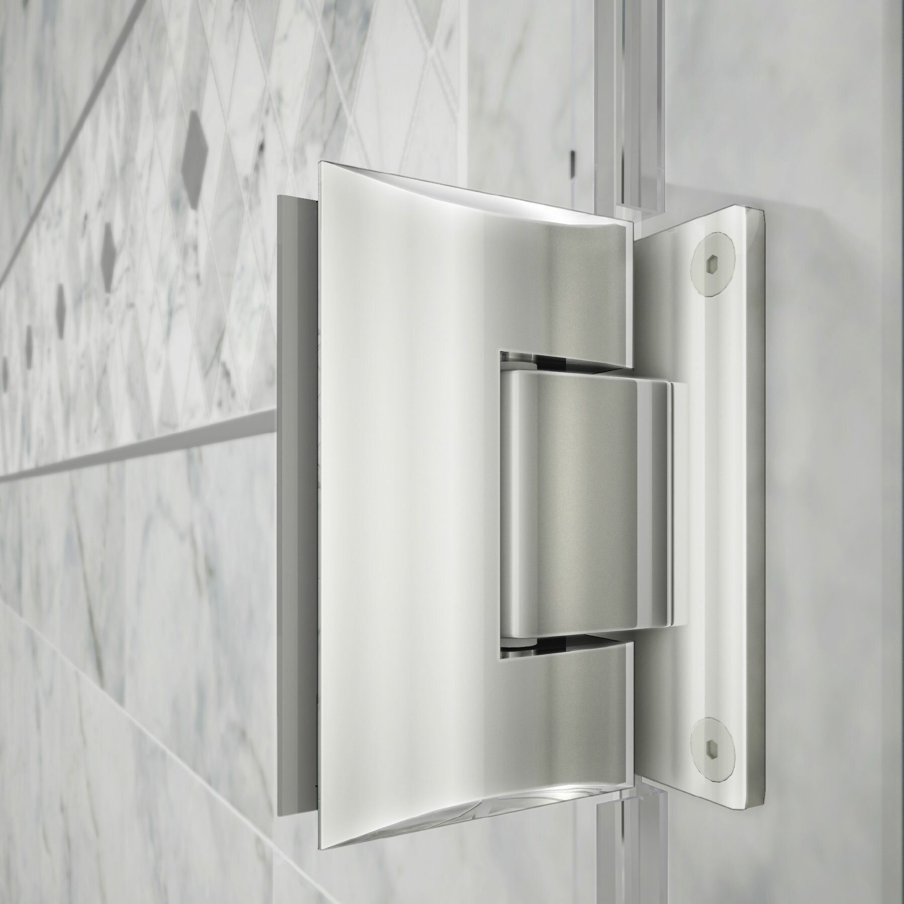Hinged Glass Tub Enclosures : Dreamline unidoor quot w d hinged shower