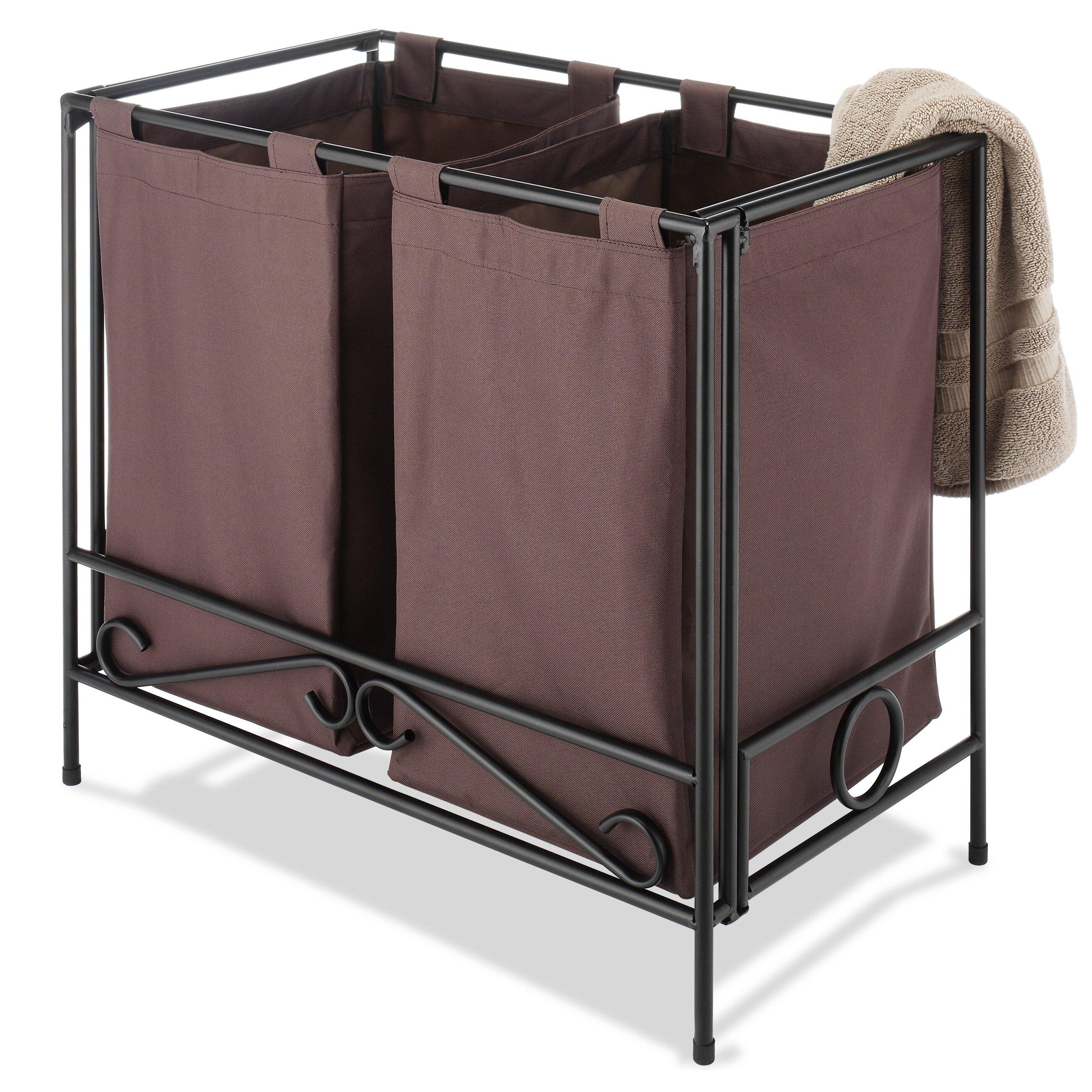 Whitmor Inc Folding Double Laundry Sorter Amp Reviews Wayfair