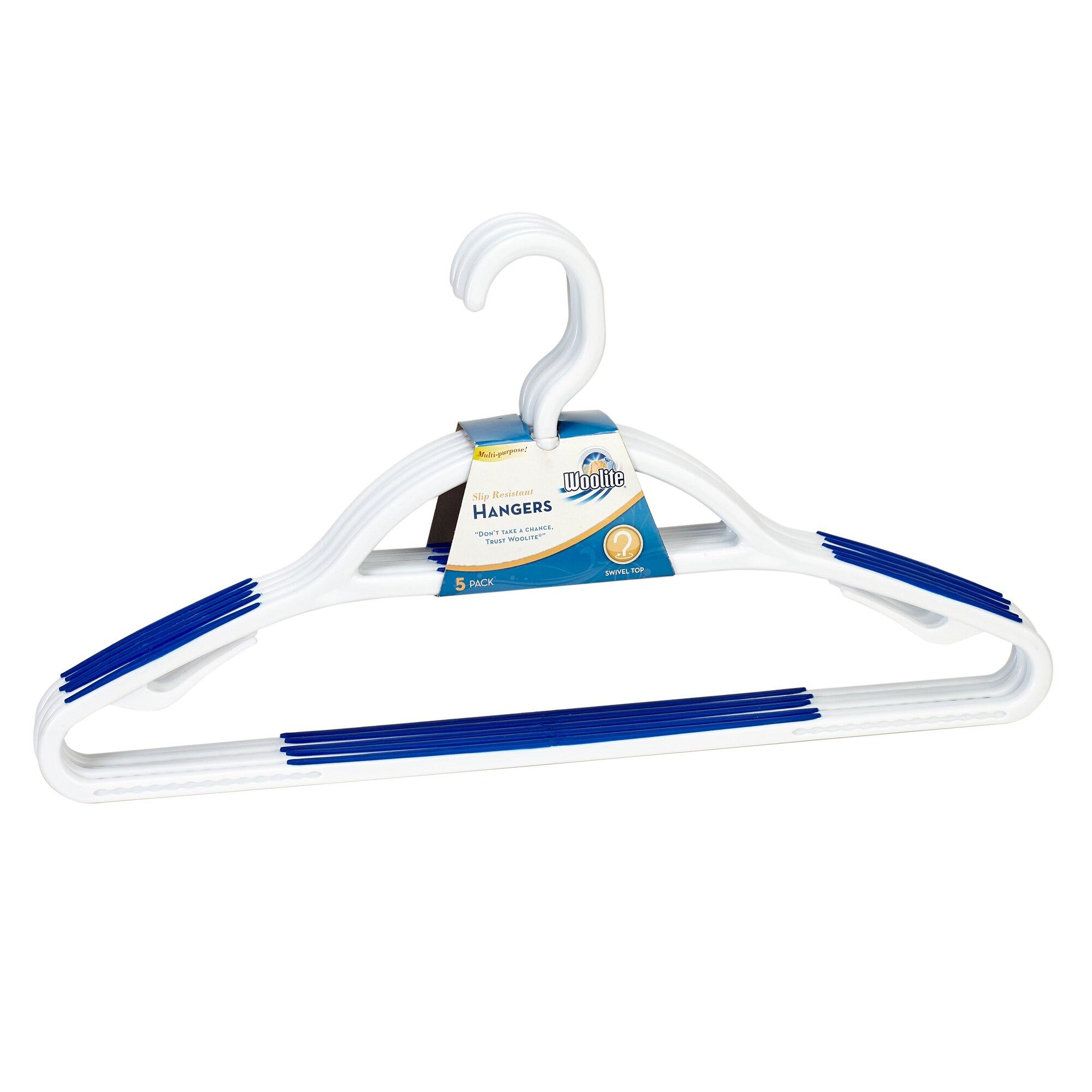 woolite 5 pack plastic non slip coat hanger   reviews