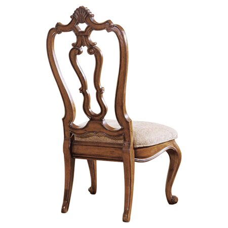 Universal Furniture Villa Cortina Carved Back Side Chair