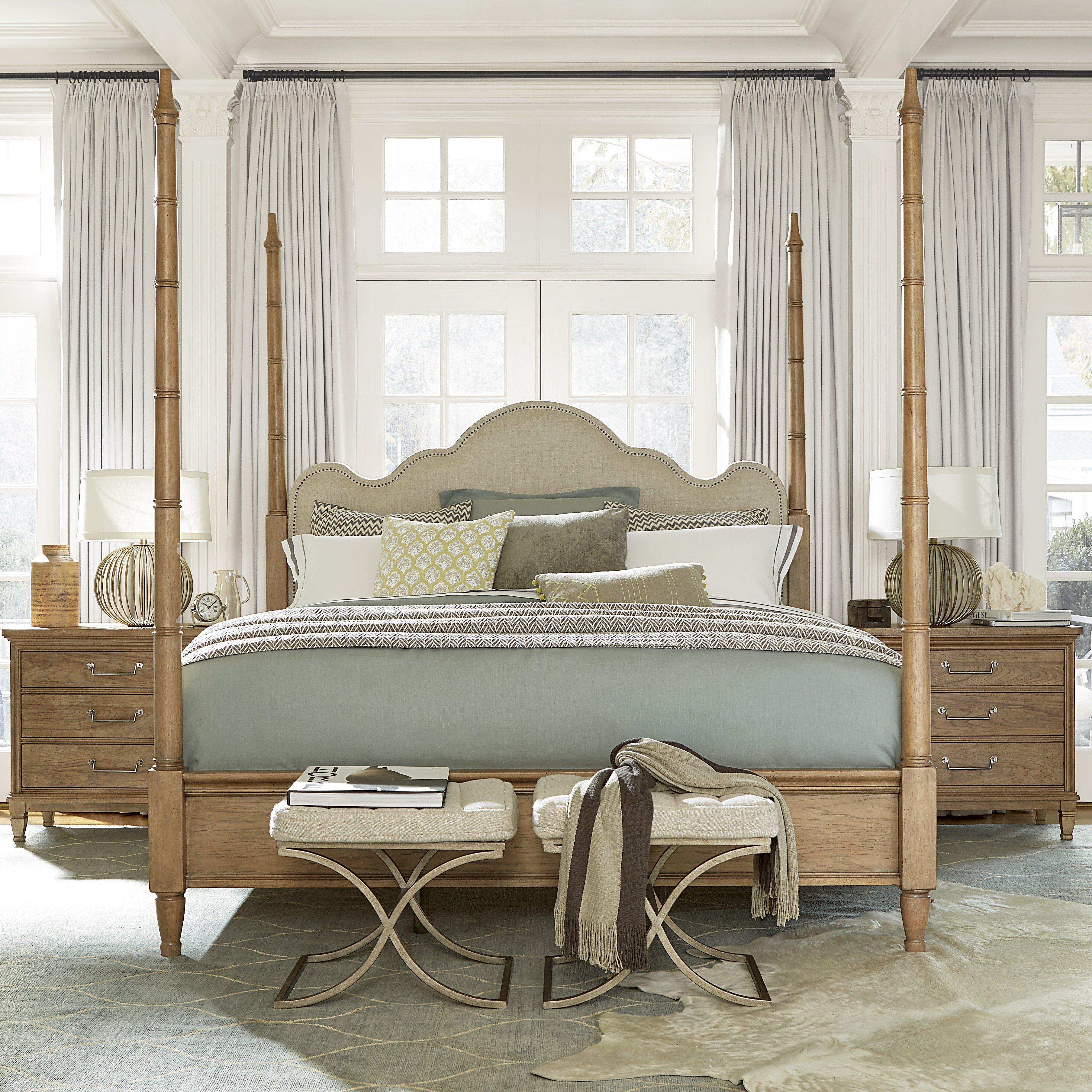 universal furniture moderne muse four poster customizable bedroom set reviews wayfair. Black Bedroom Furniture Sets. Home Design Ideas