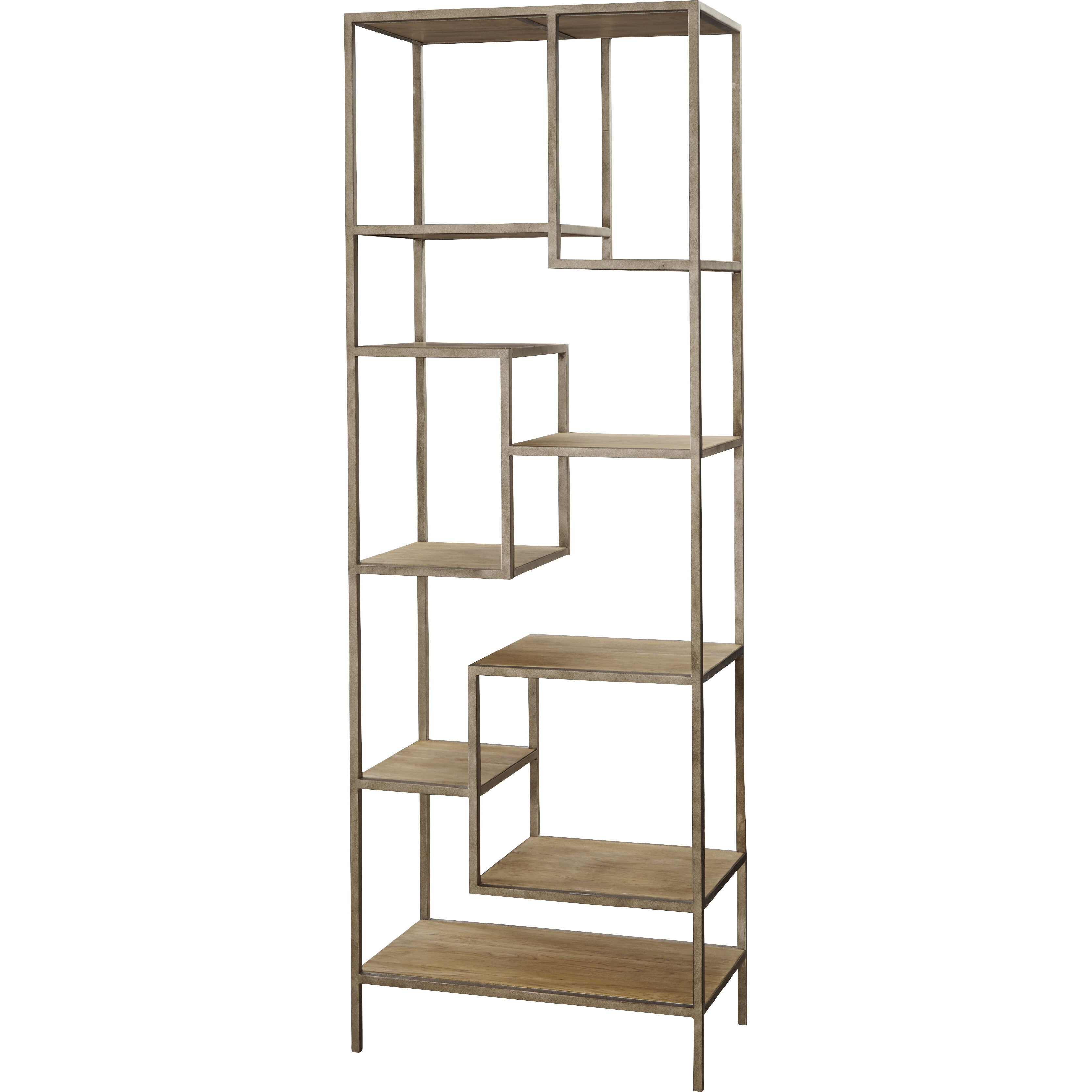 universal furniture moderne muse 86 etagere bookcase reviews wayfair. Black Bedroom Furniture Sets. Home Design Ideas