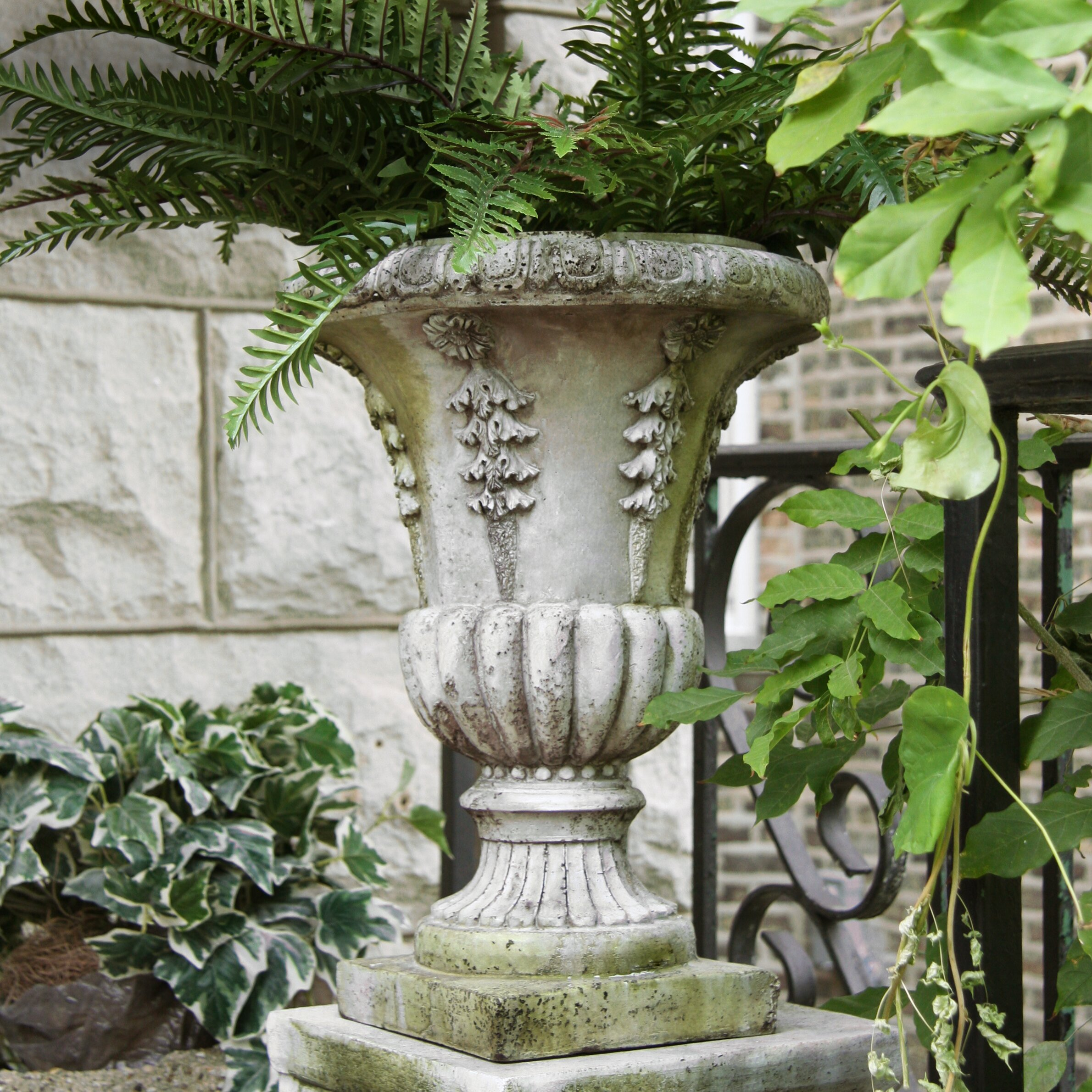 Orlandistatuary Round Urn Planter Amp Reviews Wayfair