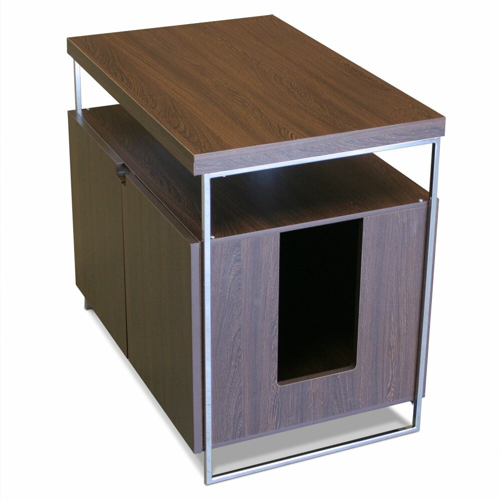 Modern cat designs large cat litter box enclosure for Furniture box
