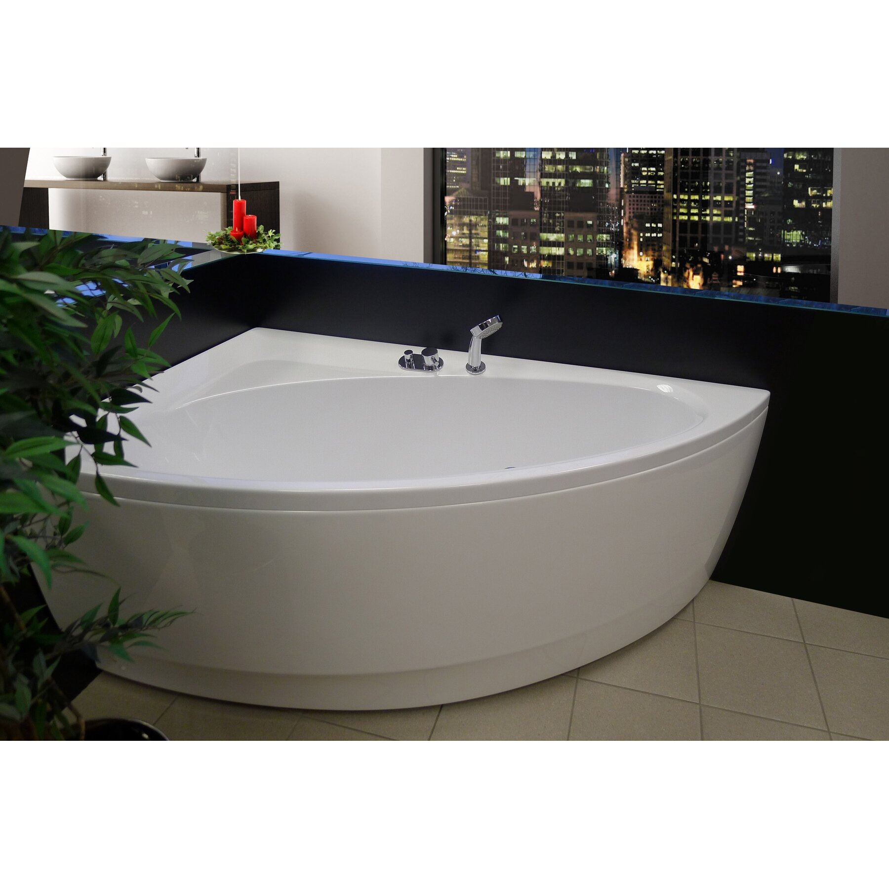 Aquatica Idea 59 Quot X 35 75 Quot Soaking Bathtub Wayfair
