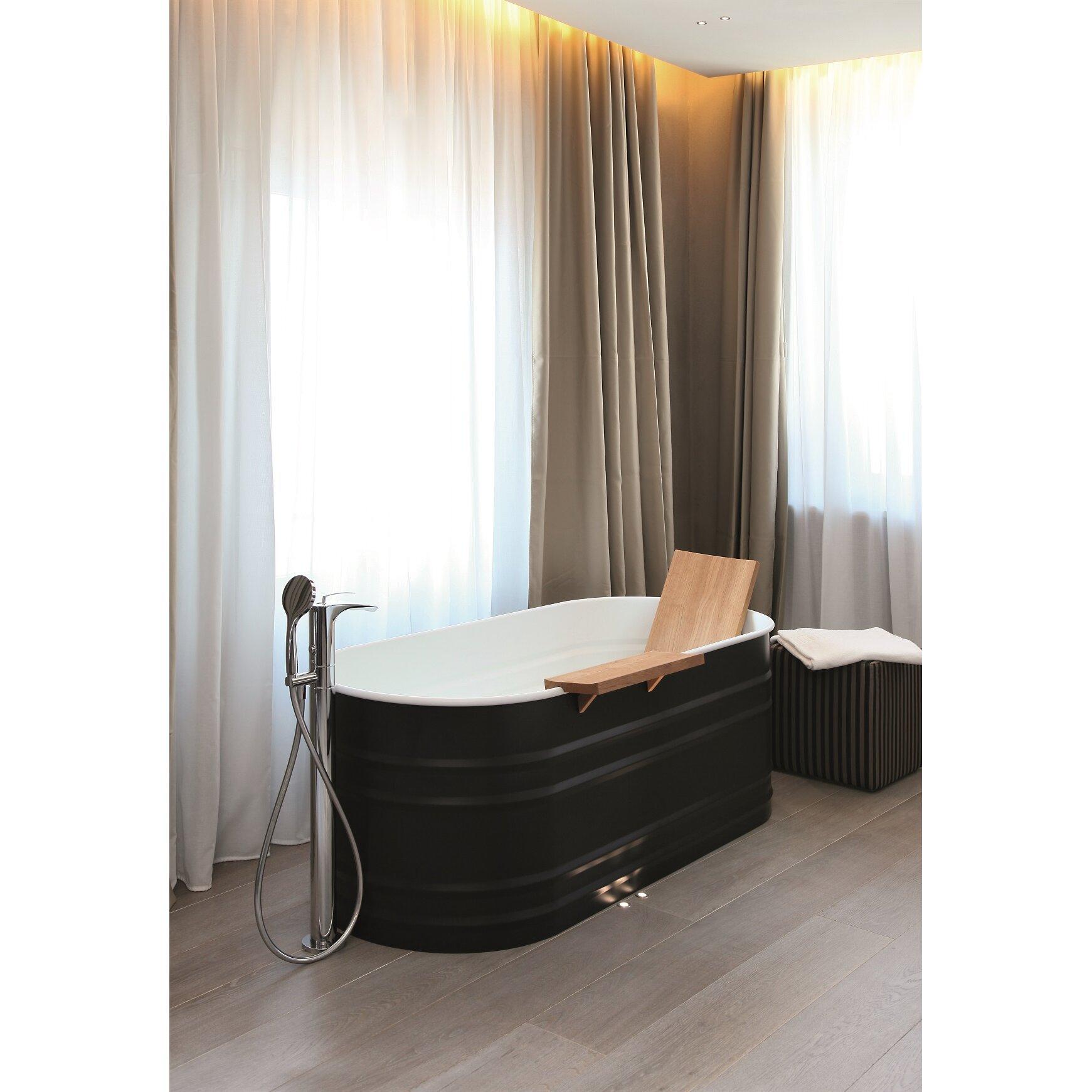 aquatica bollicine single handle floor mount bath faucet kokols brushed nickel waterfall roman bath tub faucet