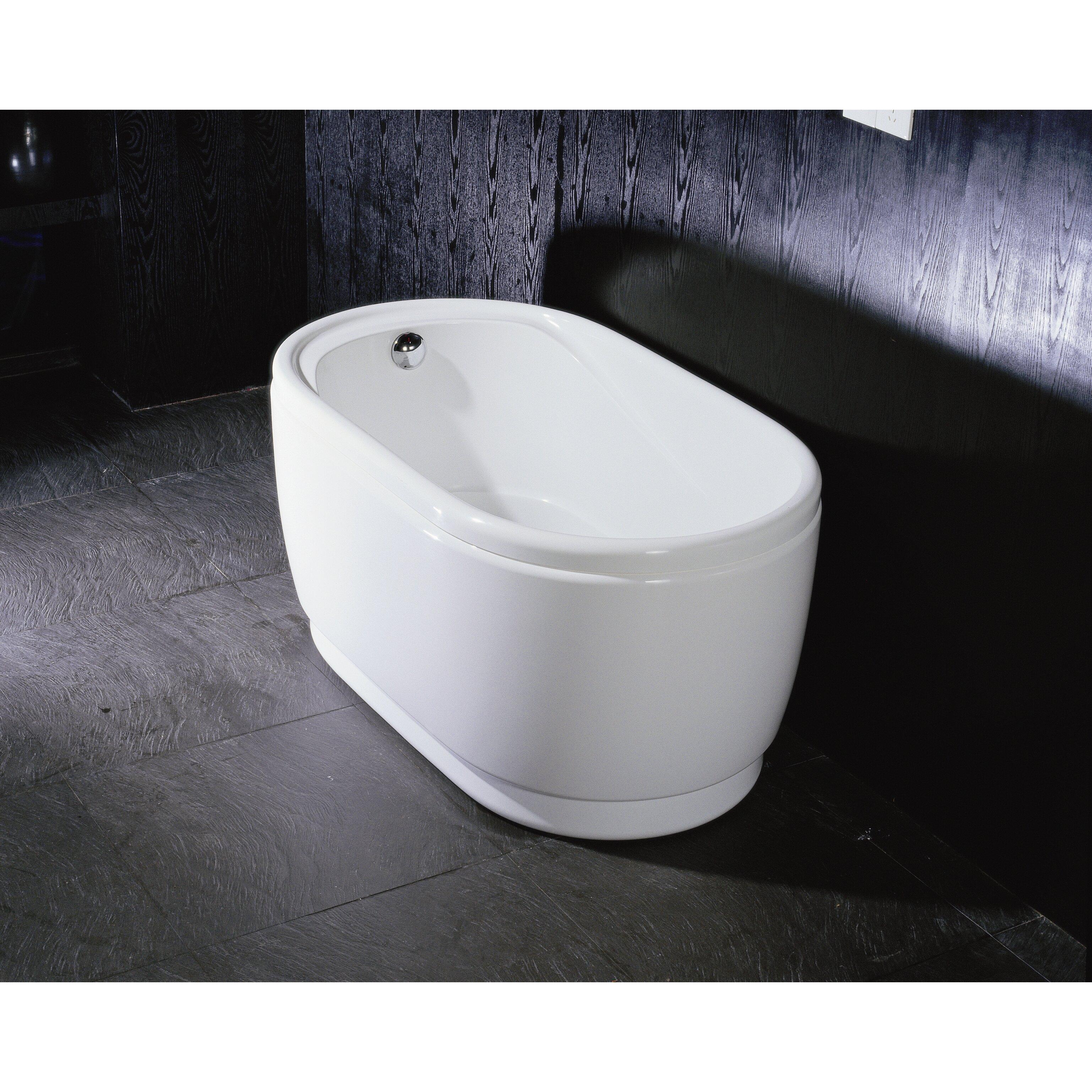 Aquatica Purescape Acrylic 55 1 X 29 5 Soaking Bathtub
