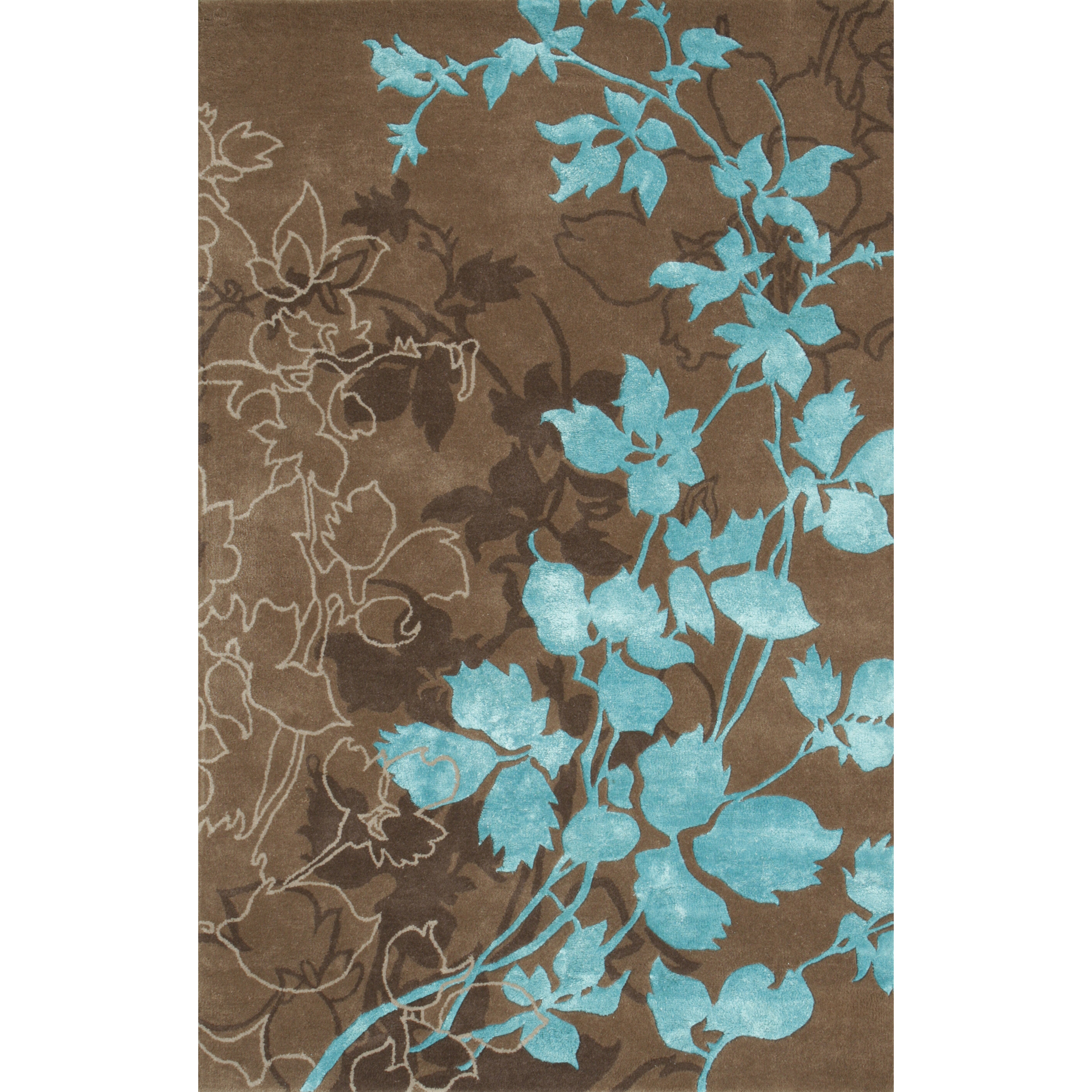 Noble House Dahlia Brown & Turquoise Area Rug & Reviews