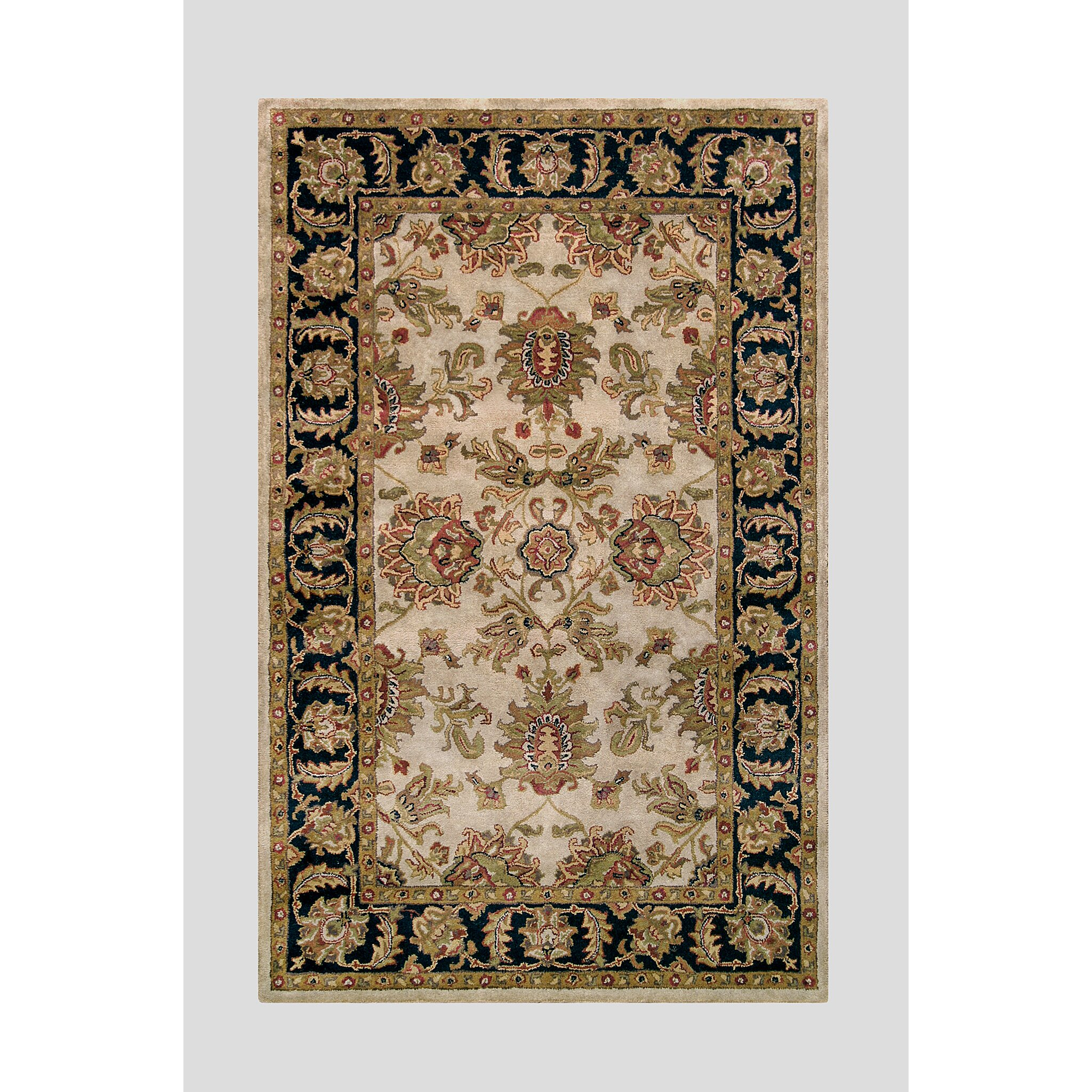Noble House Harmony Beige Black Floral Area Rug Wayfair