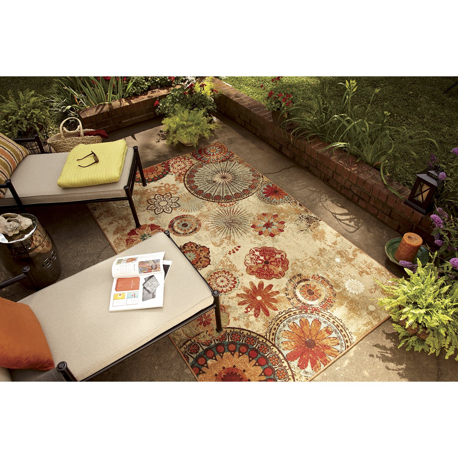 Mohawk Home Red Indoor Outdoor Area Rug & Reviews