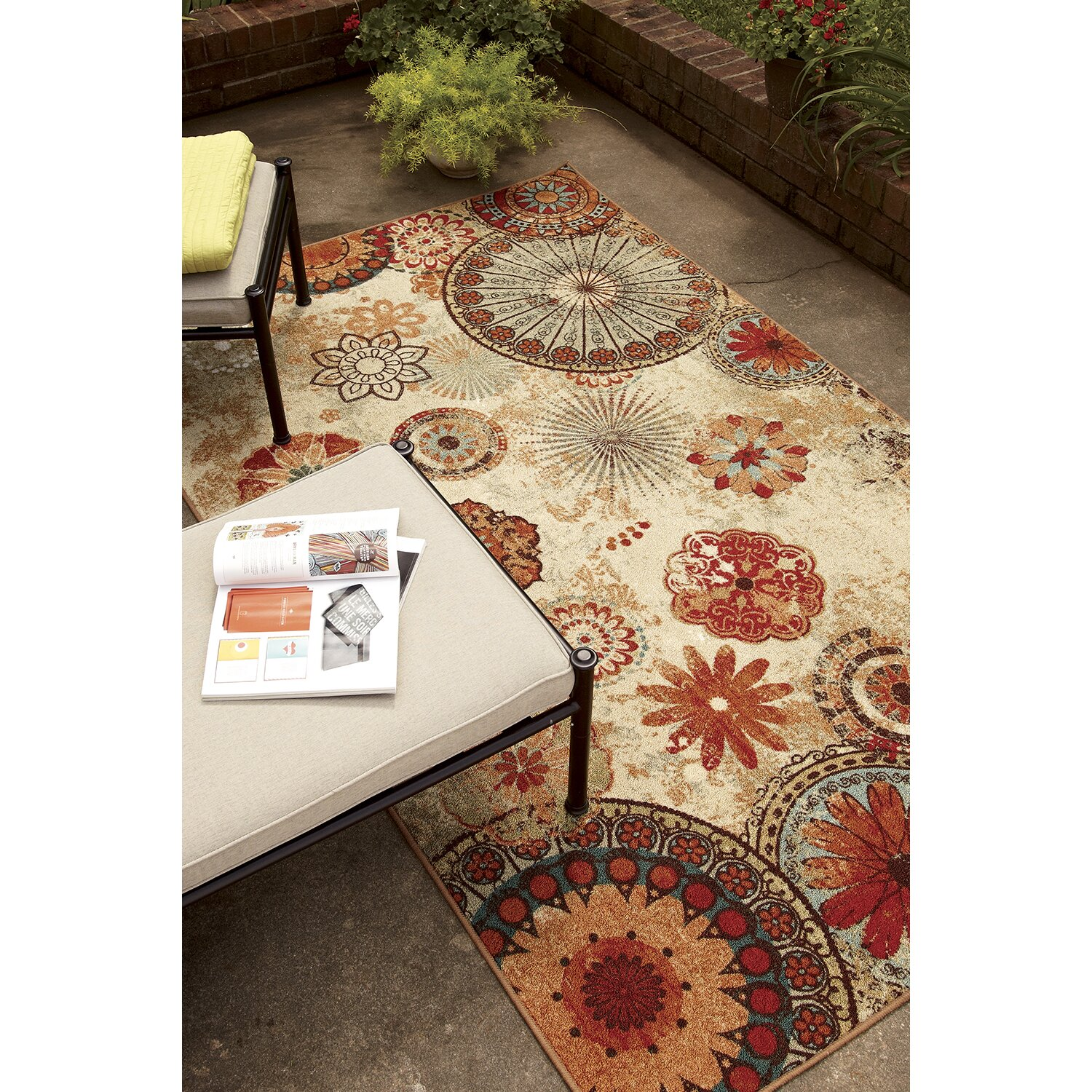 Mohawk Home Red Indoor Outdoor Area Rug Amp Reviews Wayfair