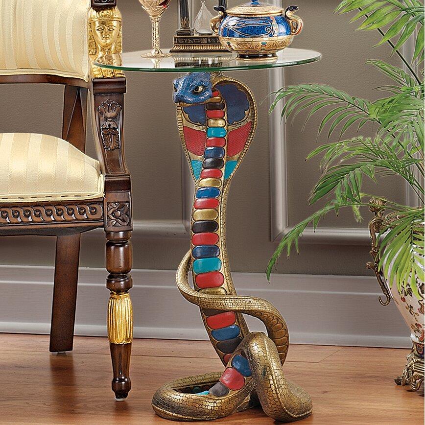 Design Toscano Renenutet Egyptian Cobra Goddess Glass