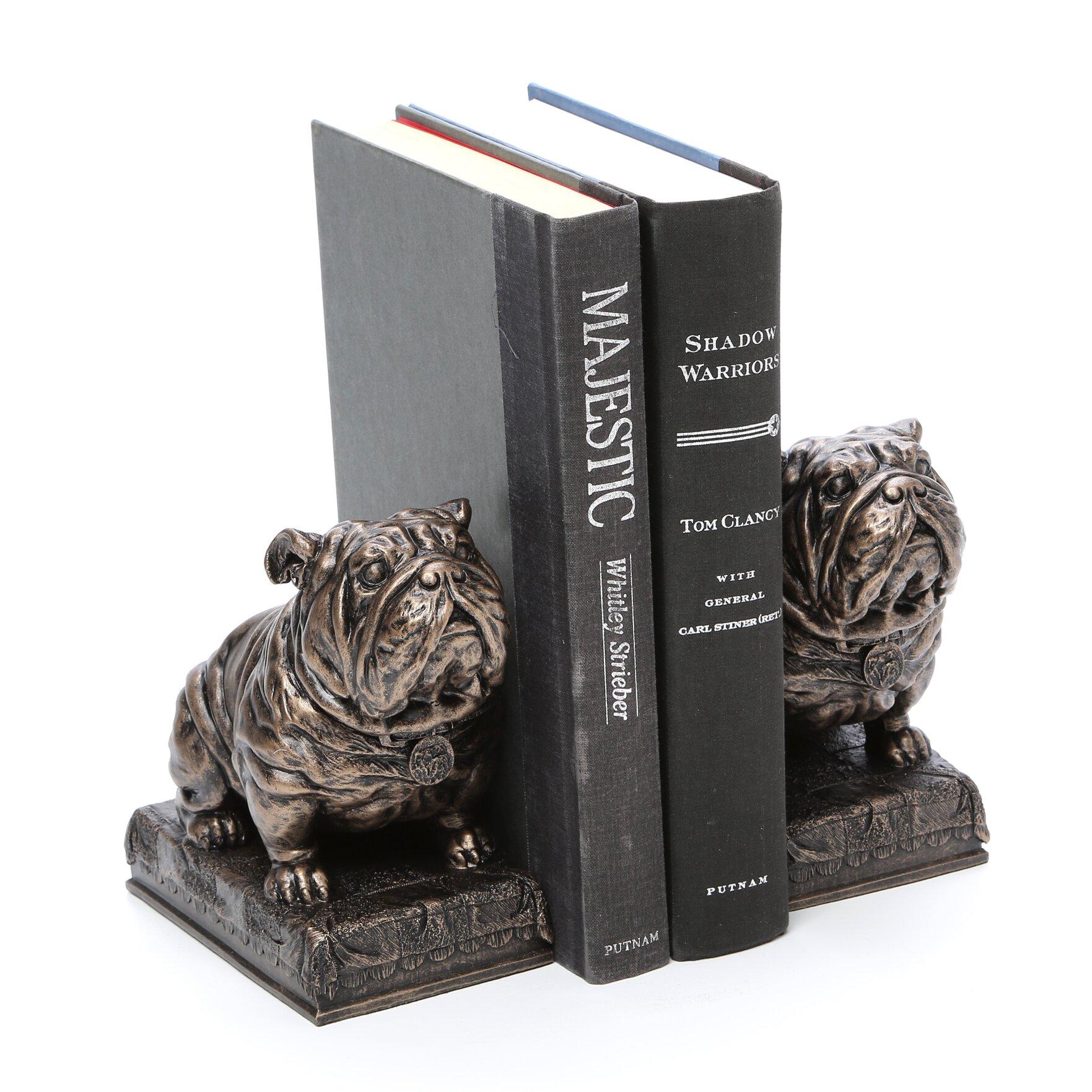 Design toscano bulldog mascot bookend reviews wayfair for Design toscano