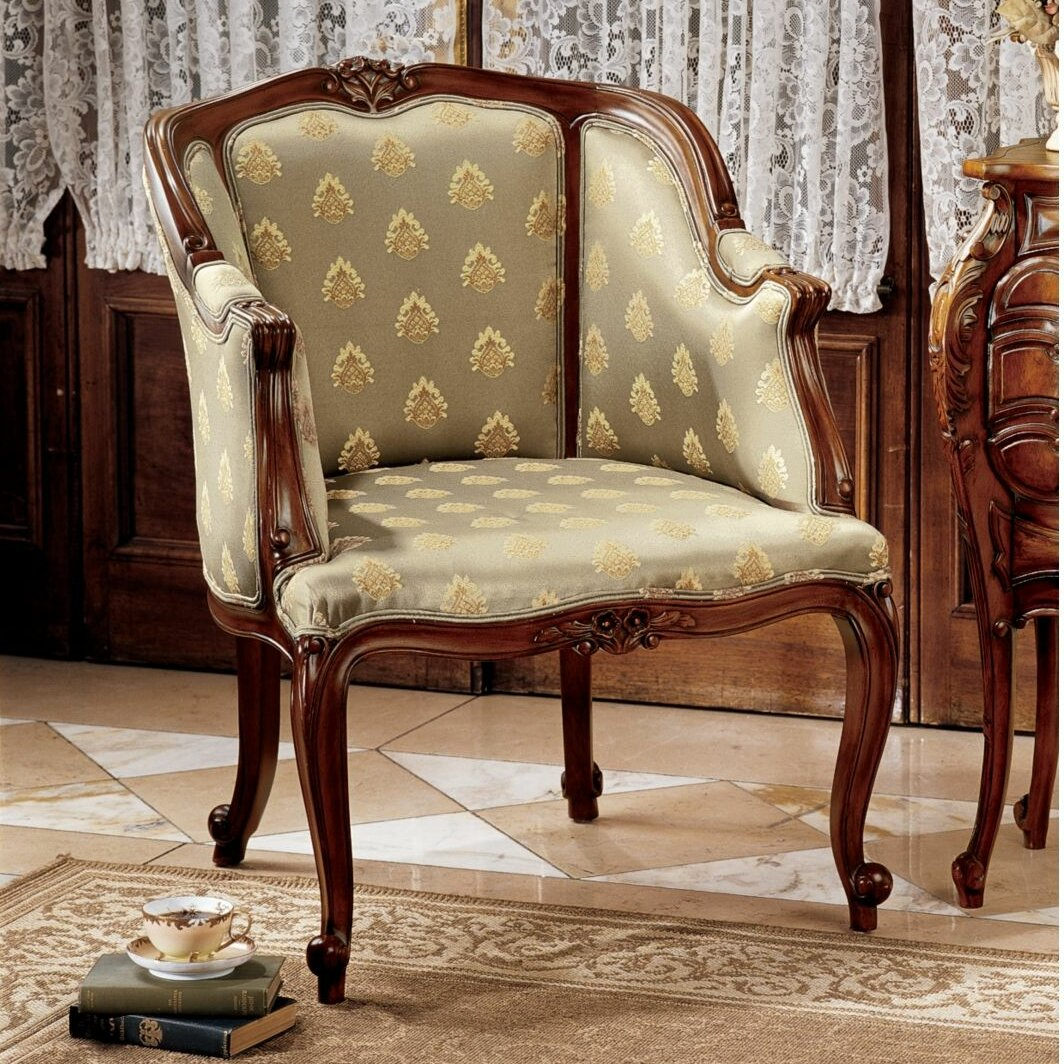 Design toscano kingsbury english tub fabric arm chair for English chair design