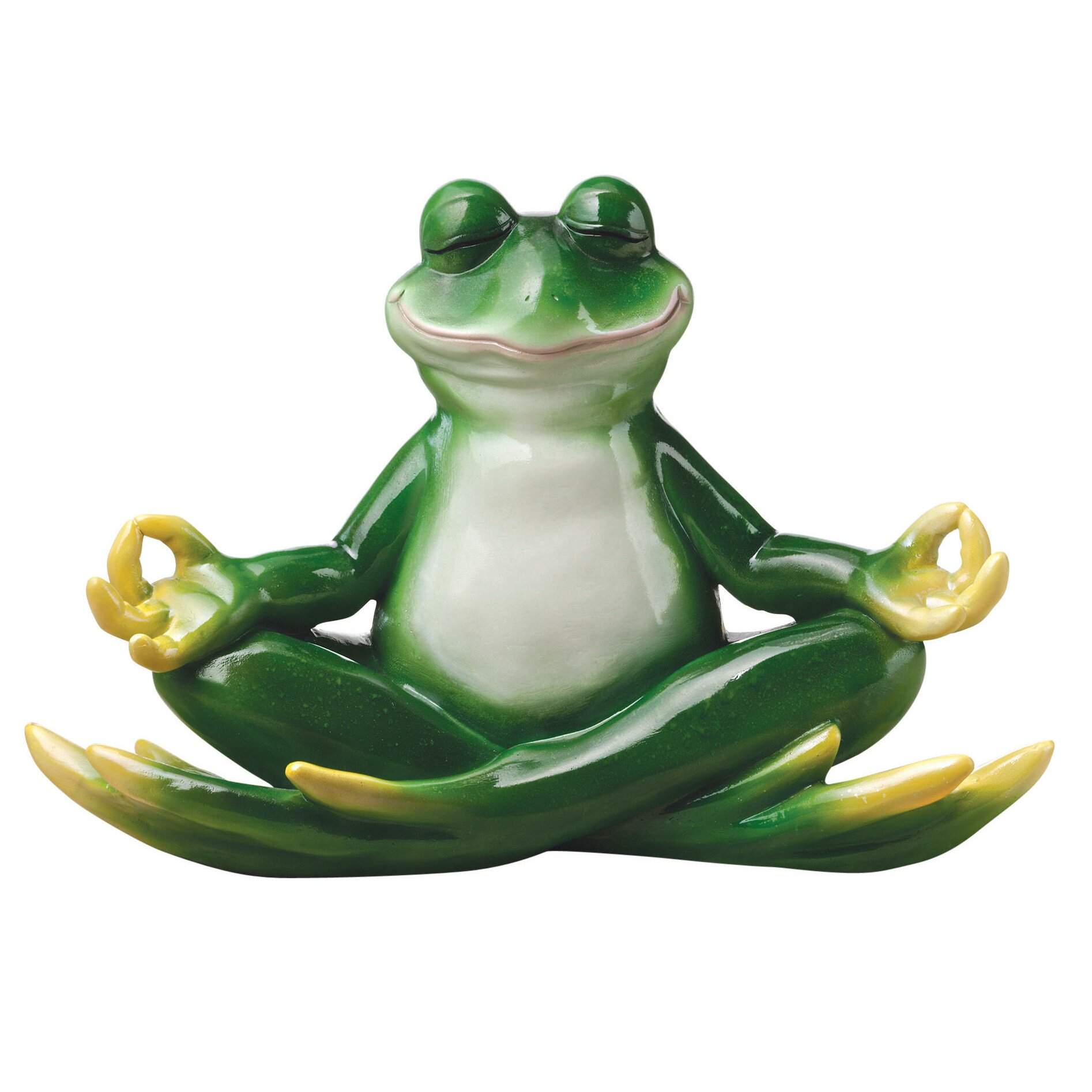 Bungalow Rose Meditating Frog Statue & Reviews