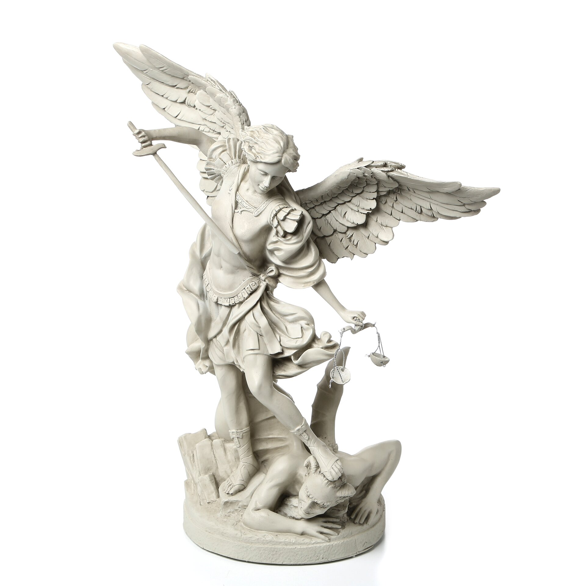 design toscano st michael the archangel gallery statue reviews wayfair. Black Bedroom Furniture Sets. Home Design Ideas