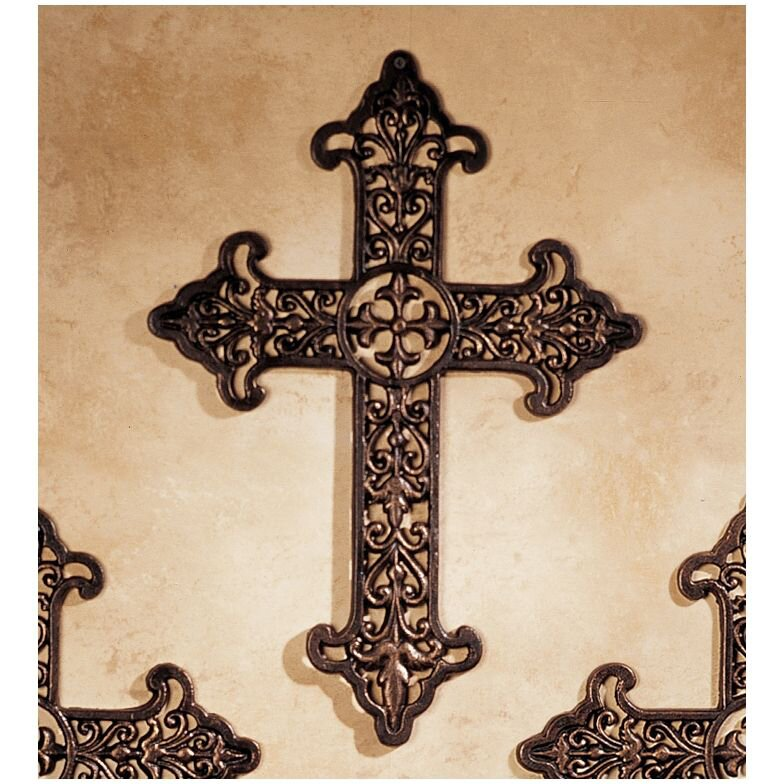 Design toscano fleur de lis cross wall decor reviews Fleur de lis wall