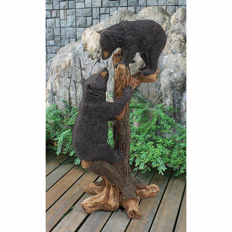 Wayfair Garden Statues: Design Toscano Climbing Cubs Bear Statue & Reviews