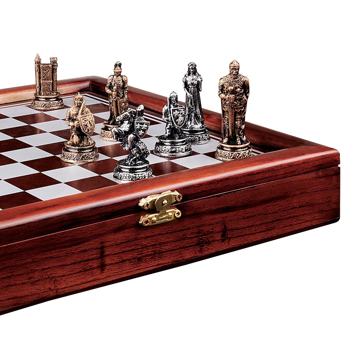 Design toscano decorative knights 39 mortal conflict chess set reviews wayfair - Ornate chess sets ...
