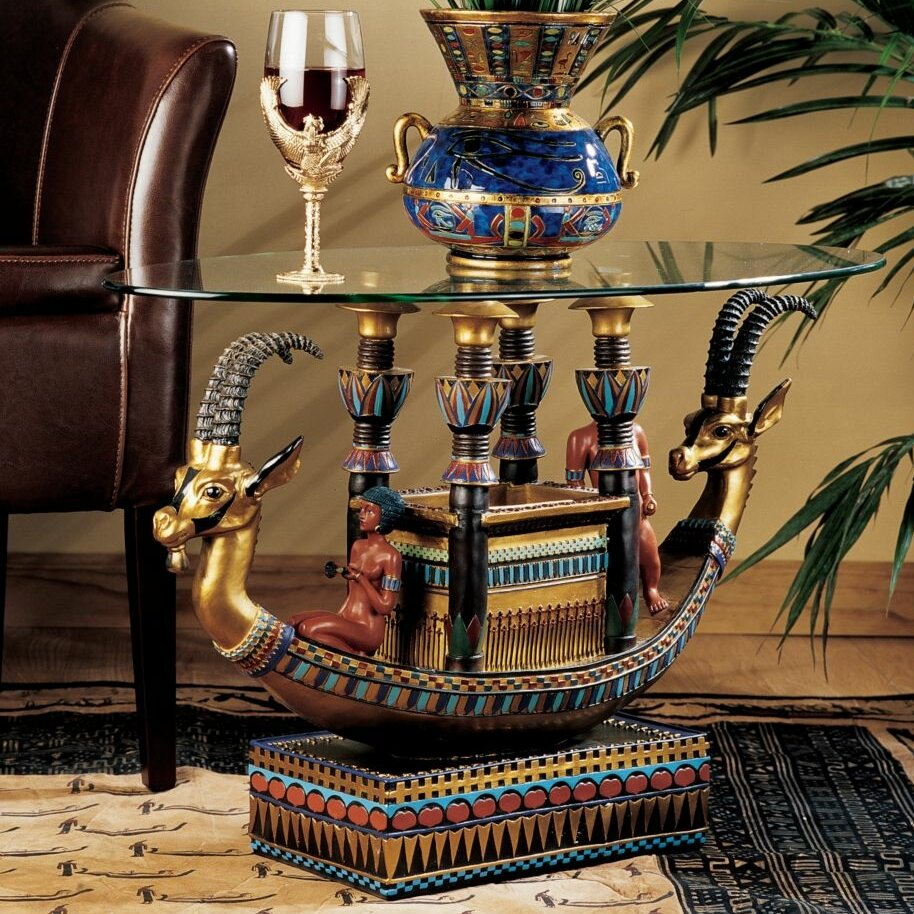 Design Toscano Egyptian Barge To The Beyond Coffee Table Reviews Wayfair