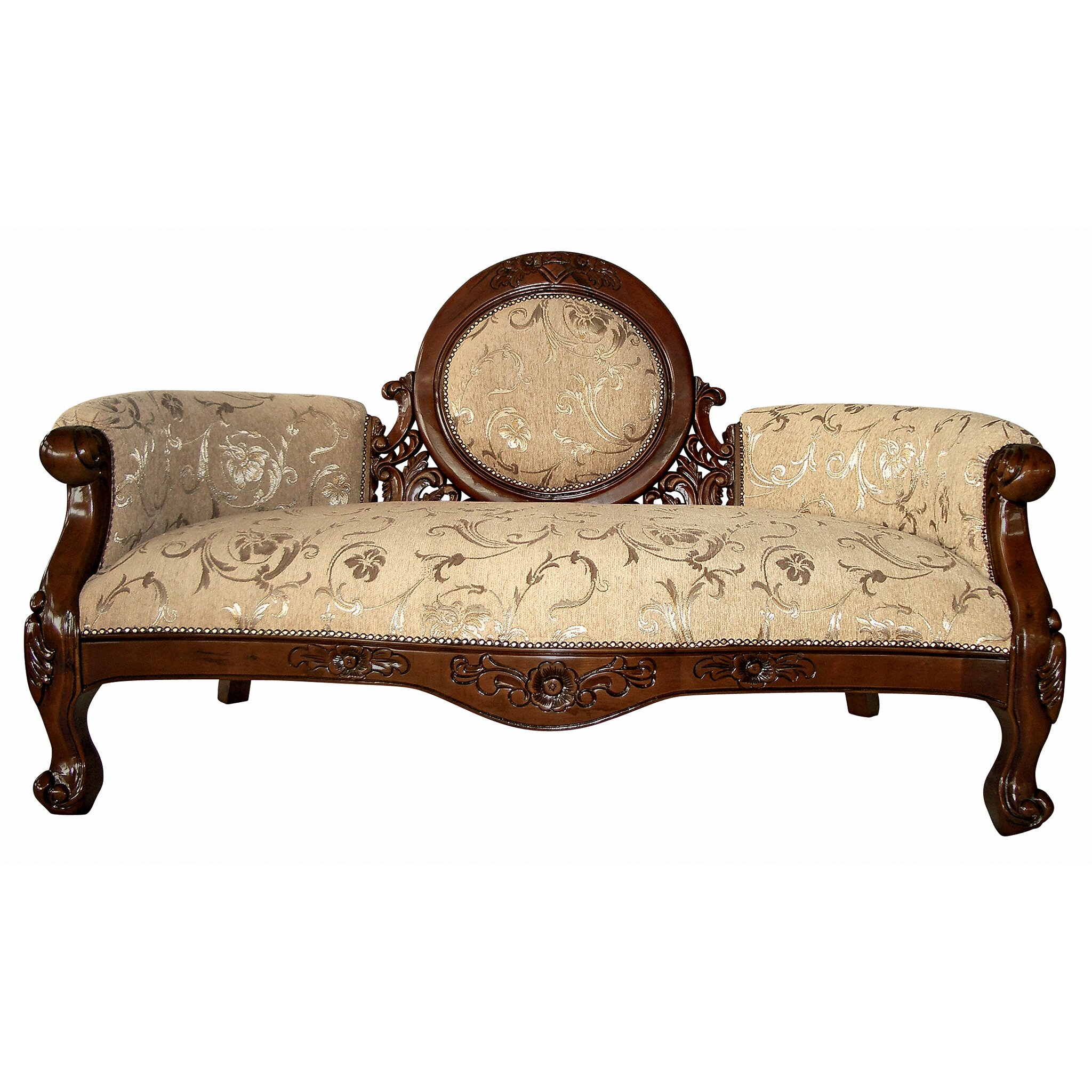 Victorian Couch: Design Toscano Victorian Cameo-Backed Sofa