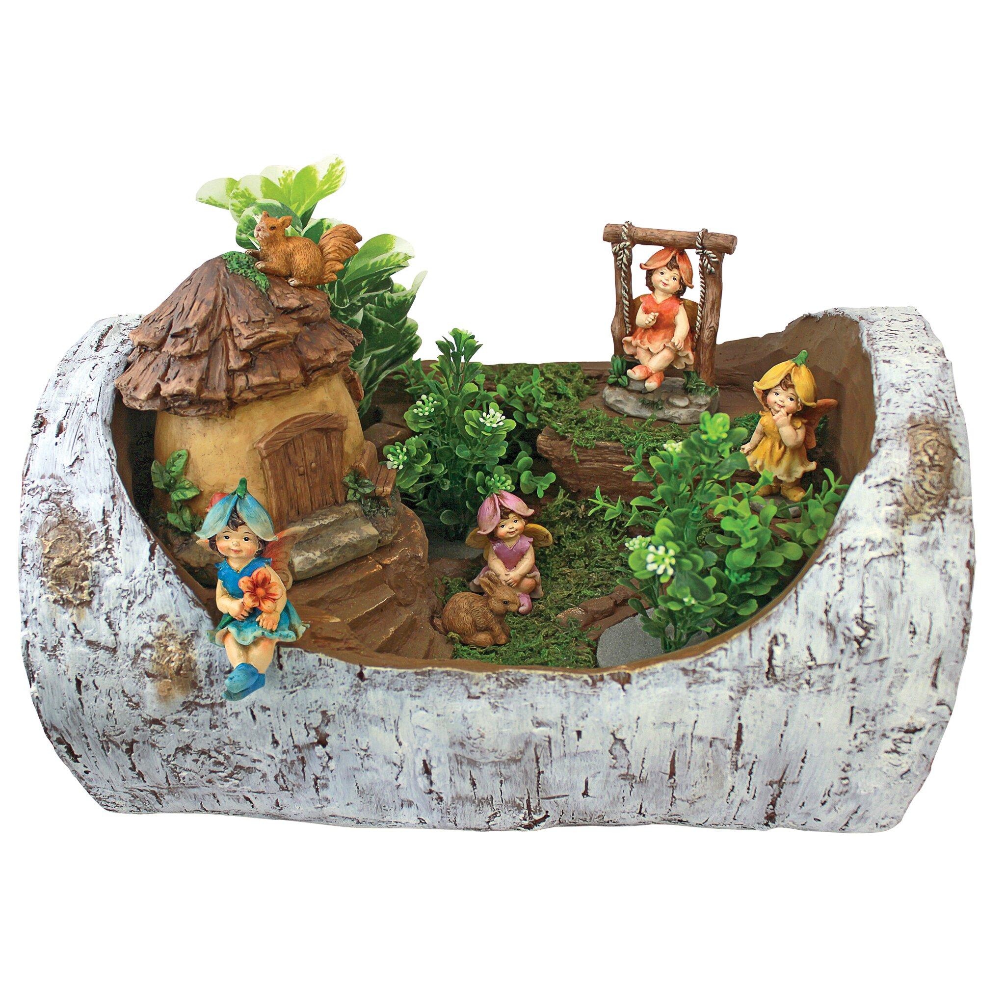 Garden Statue Fairy: Design Toscano Tiny Forest Friends Fairy Garden Statue