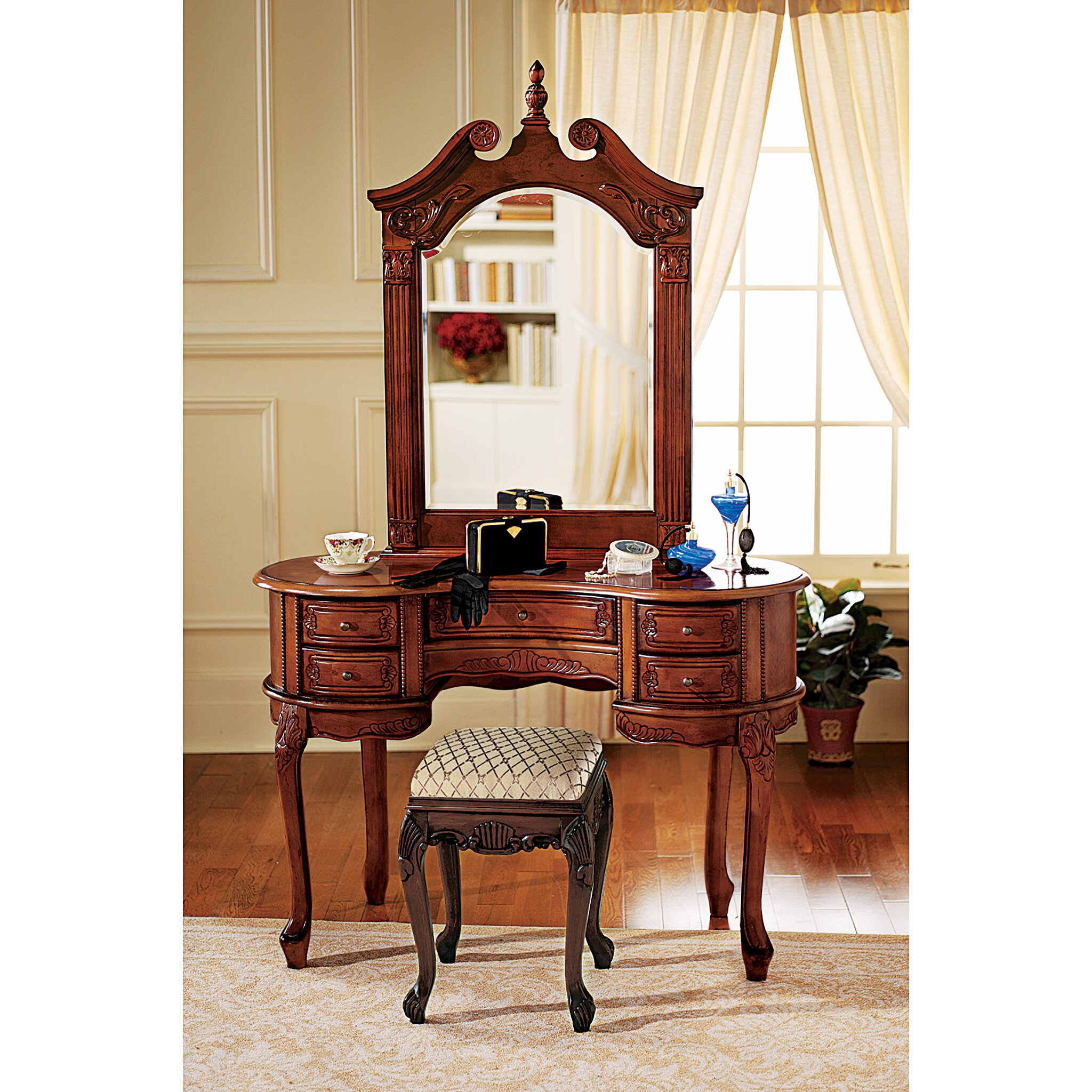 Design Toscano Queen Anne Vanity With Mirror Reviews