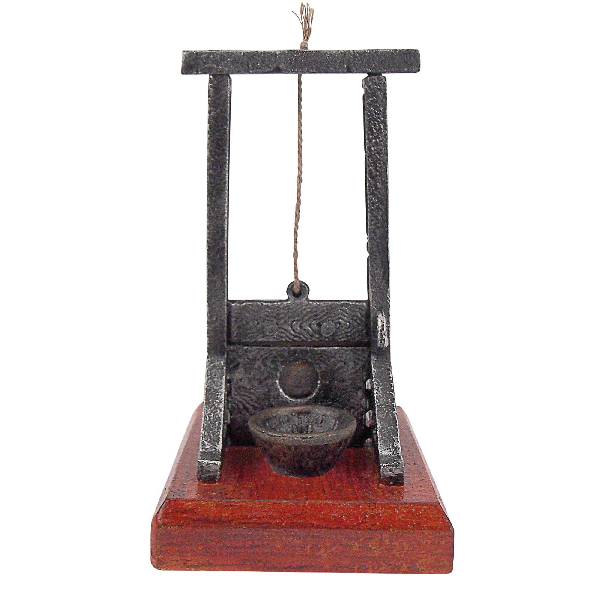 Design toscano desk sized guillotine sculpture reviews for Design toscano