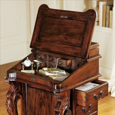 Design Toscano The Captain S Davenport Hinged Top Desk