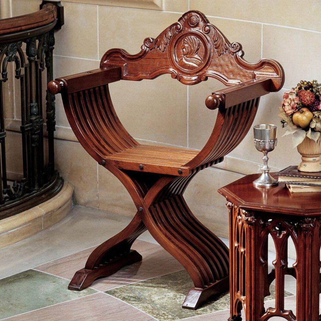 Design Toscano The Savonarola Arm Chair Amp Reviews Wayfair