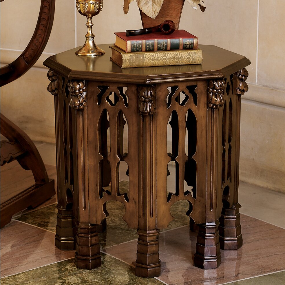 Design toscano gothic revival end table wayfair for Design tuscany