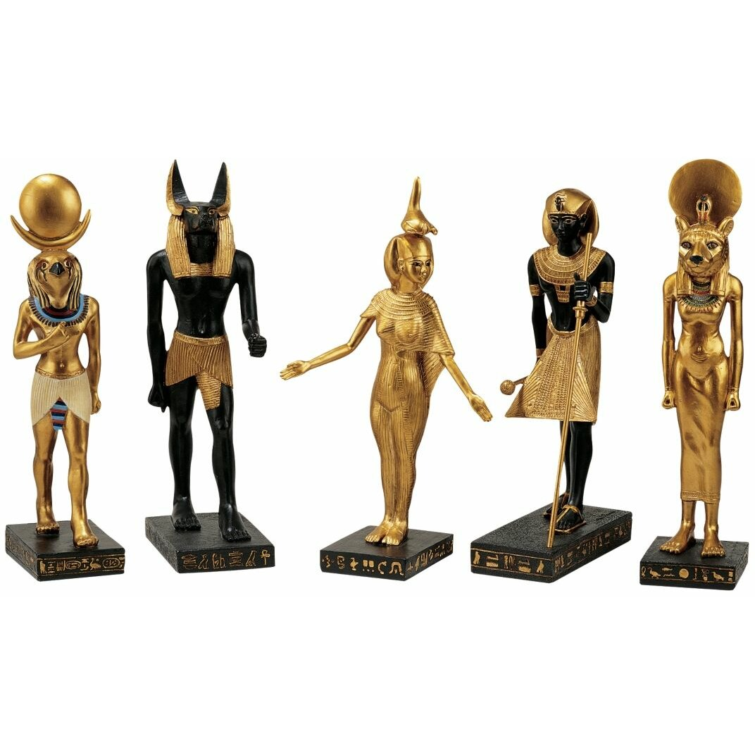 Design Toscano 5 Piece Gods Of The Egyptian Realm Figurine