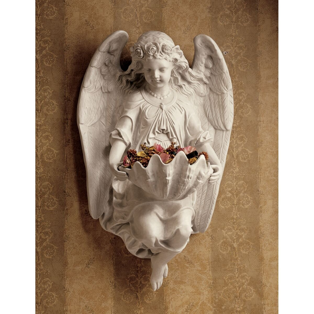 Design toscano brixton abbey angel wall d cor reviews for Angel wall decoration