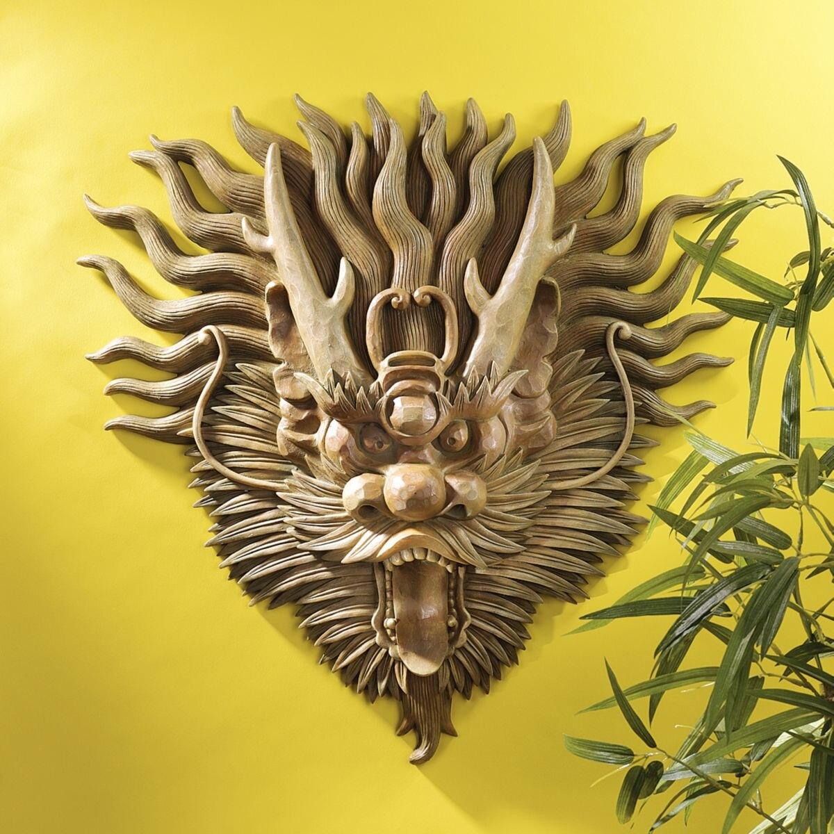 Design Toscano Tibetan Sculptural Dragon Wall D Cor