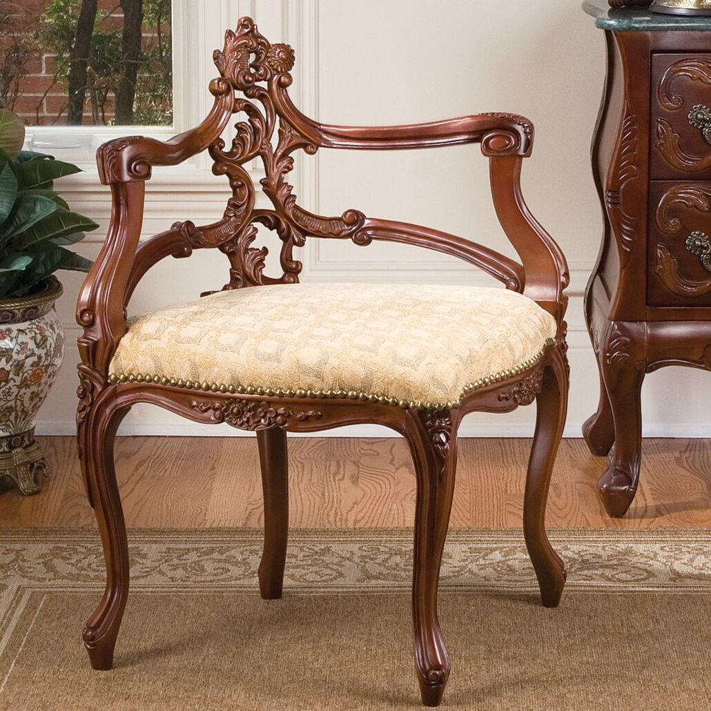 design toscano french salon corner side chair reviews wayfair