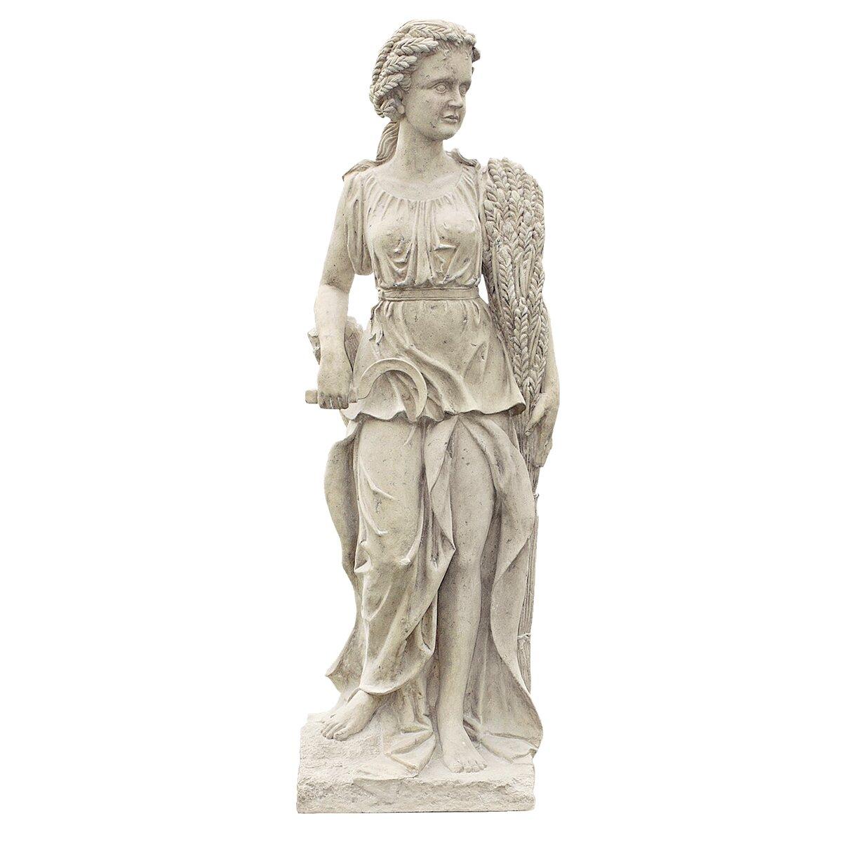Design Toscano Goddesses Of The Four Seasons Summer Statue
