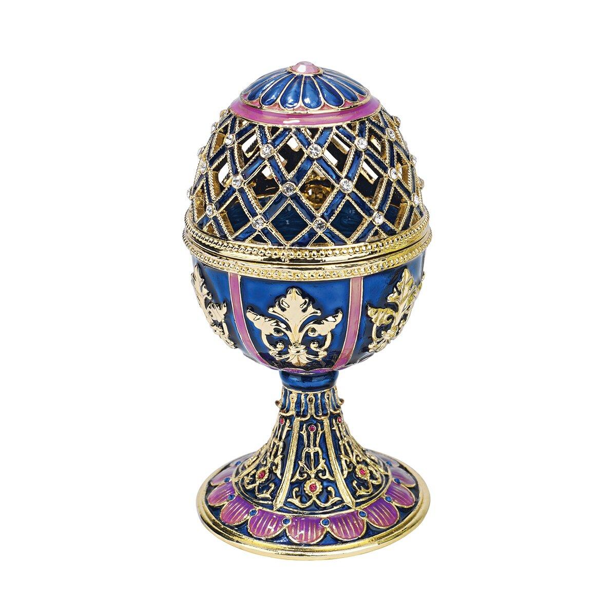 Design toscano jeweled trellis faberge style enameled for Design toscano