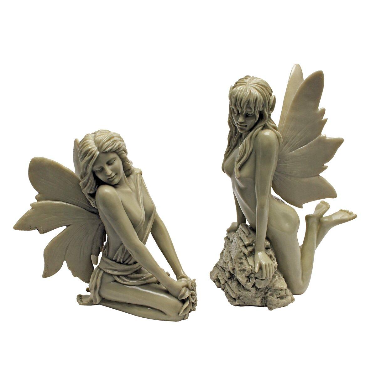 Wayfair Garden Statues: Design Toscano The Enchanted Garden Fairies Statue