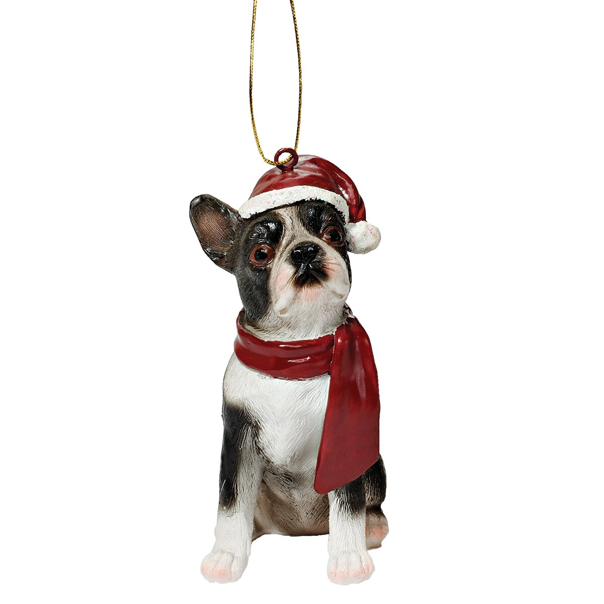 Boston Christmas Tree Delivery: Design Toscano Boston Terrier Holiday Dog Ornament