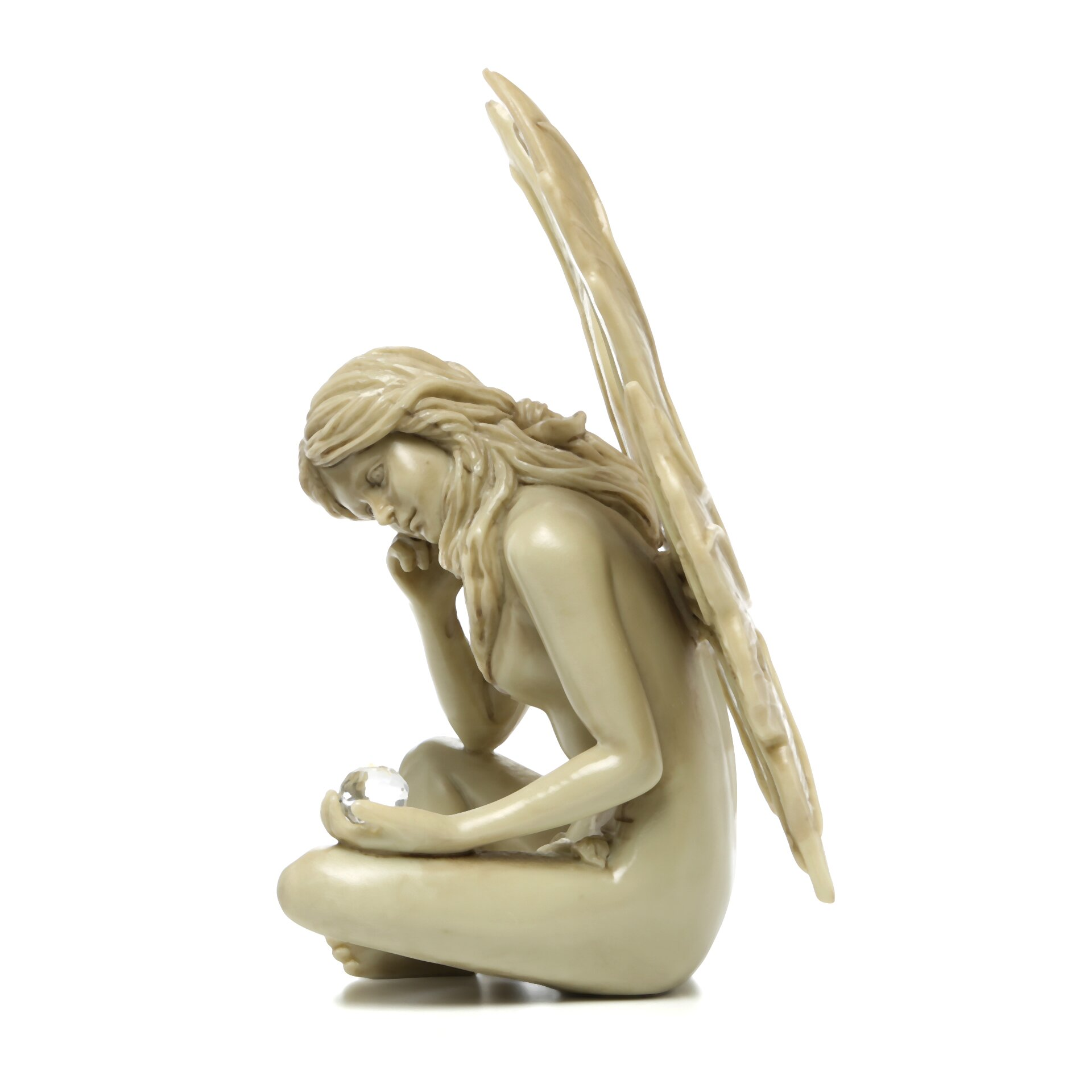 Design toscano the secret garden gazing fairy statue reviews wayfair - Fairy statues for sale ...