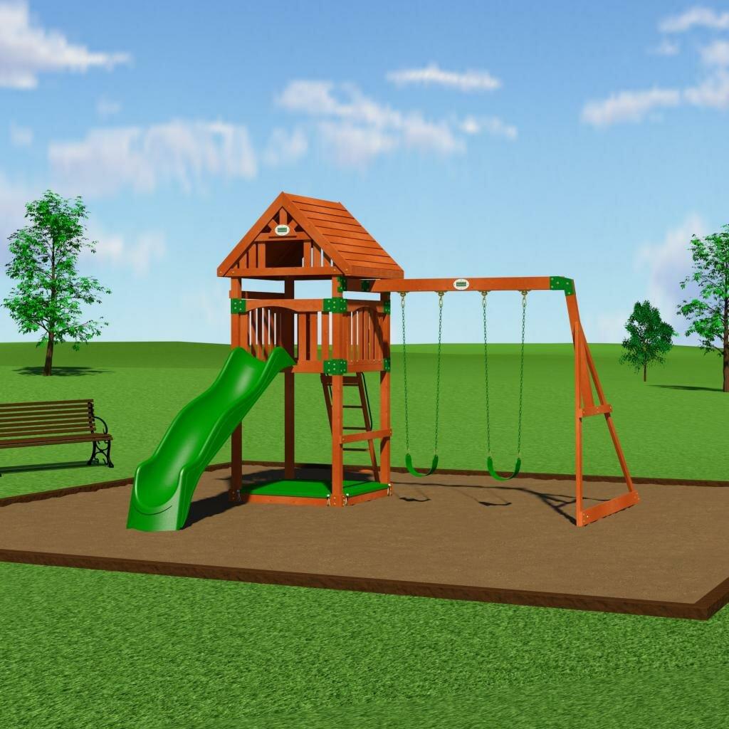 Backyard Discovery Trek Cedar All Cedar Swing Set