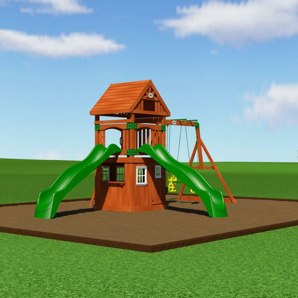 Backyard Discovery Outing Cedar All Cedar Swing Set ...