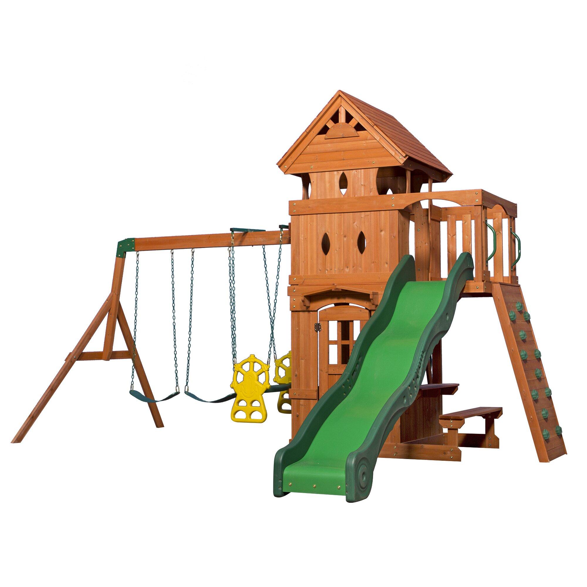 Backyard Discovery Monterey All Cedar Swing Set & Reviews ...