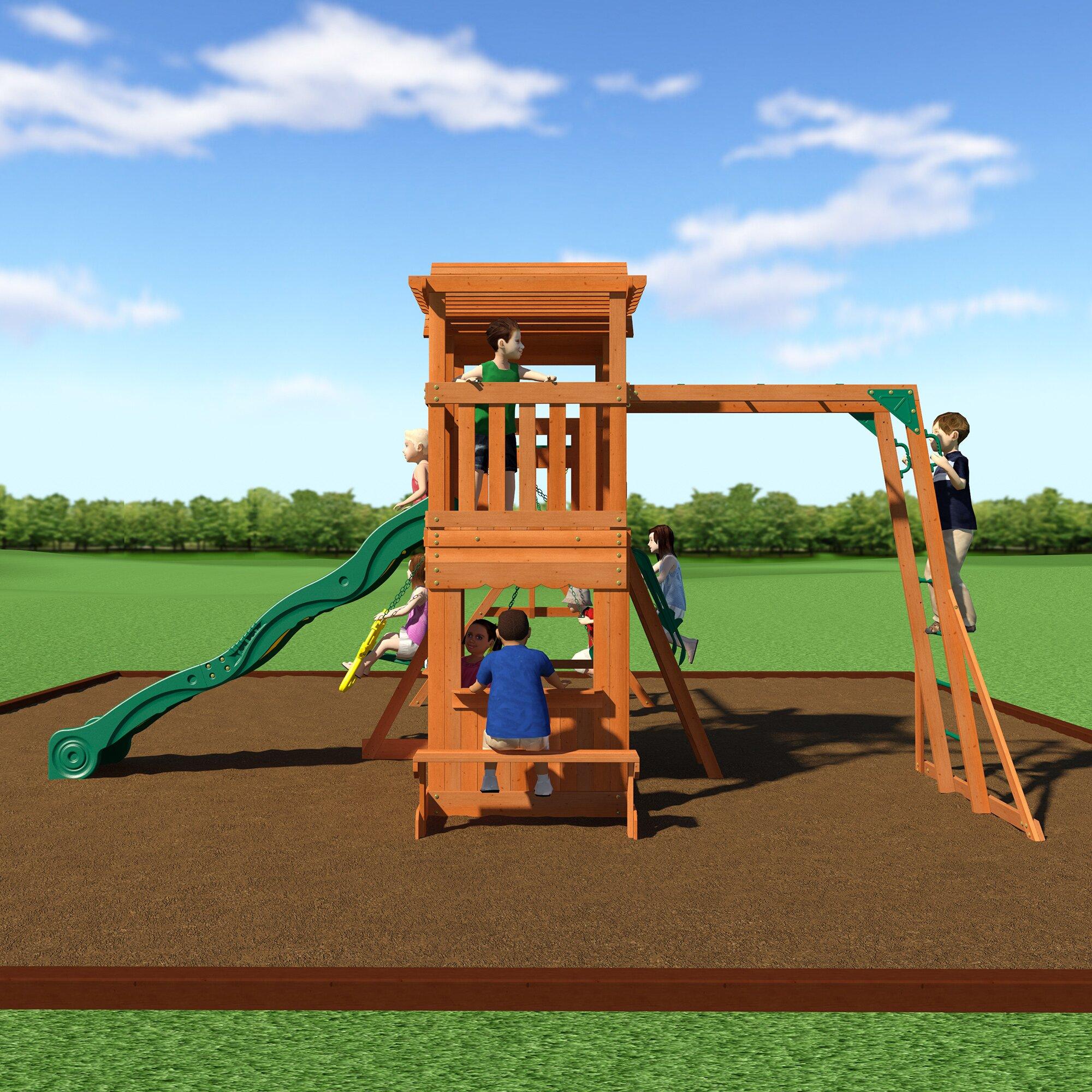 Backyard Discovery Thunder Ridge All Cedar Swing Set ...