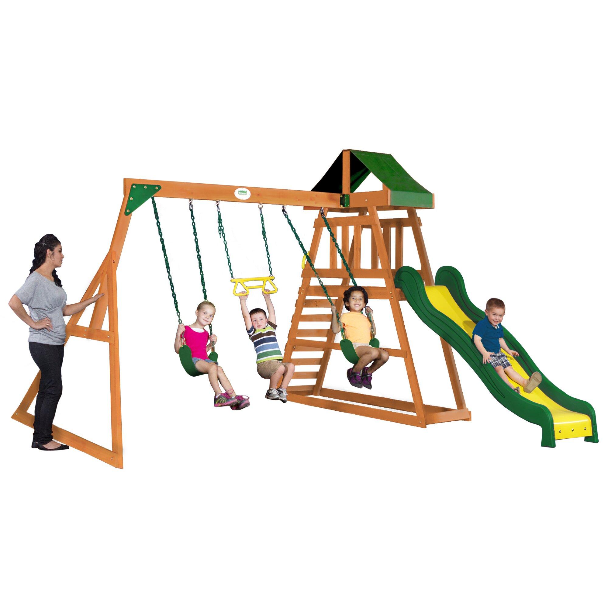 Backyard Discovery Prescott All Cedar Swing Set   Wayfair