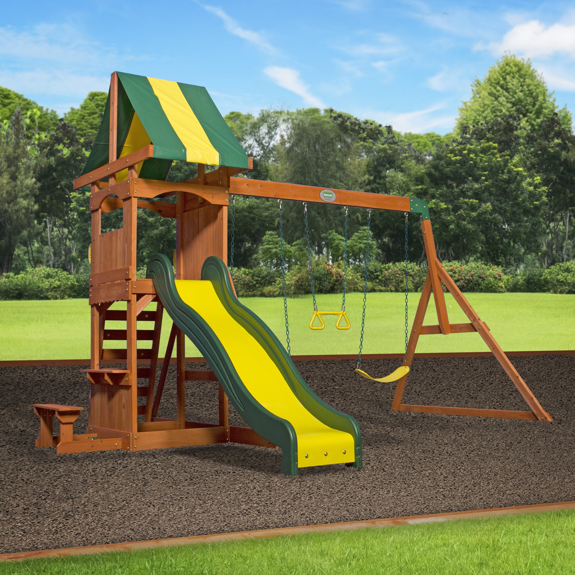 Backyard Discovery Weston All Cedar Swing Set Amp Reviews