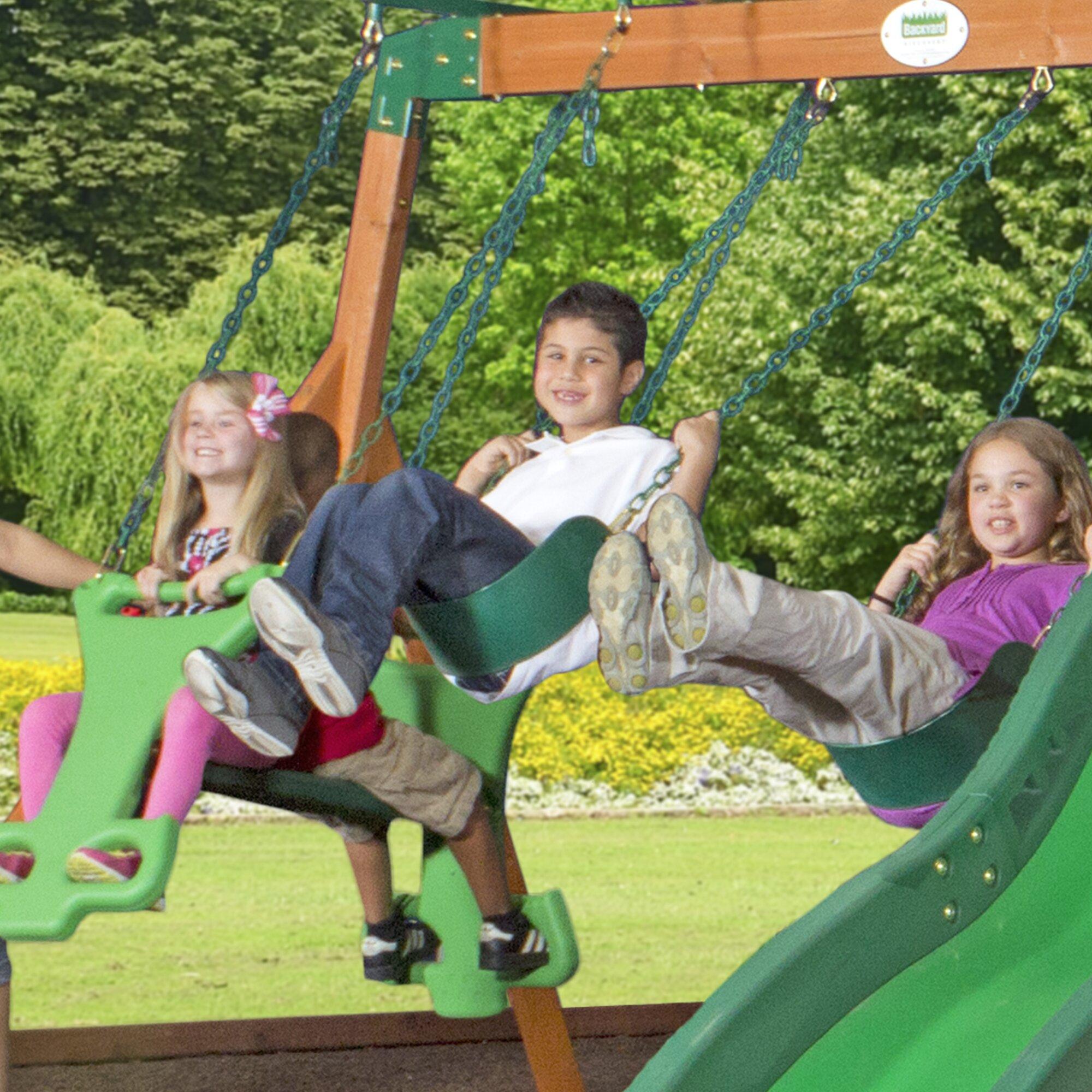 backyard discovery shenandoah all cedar swing set reviews wayfair