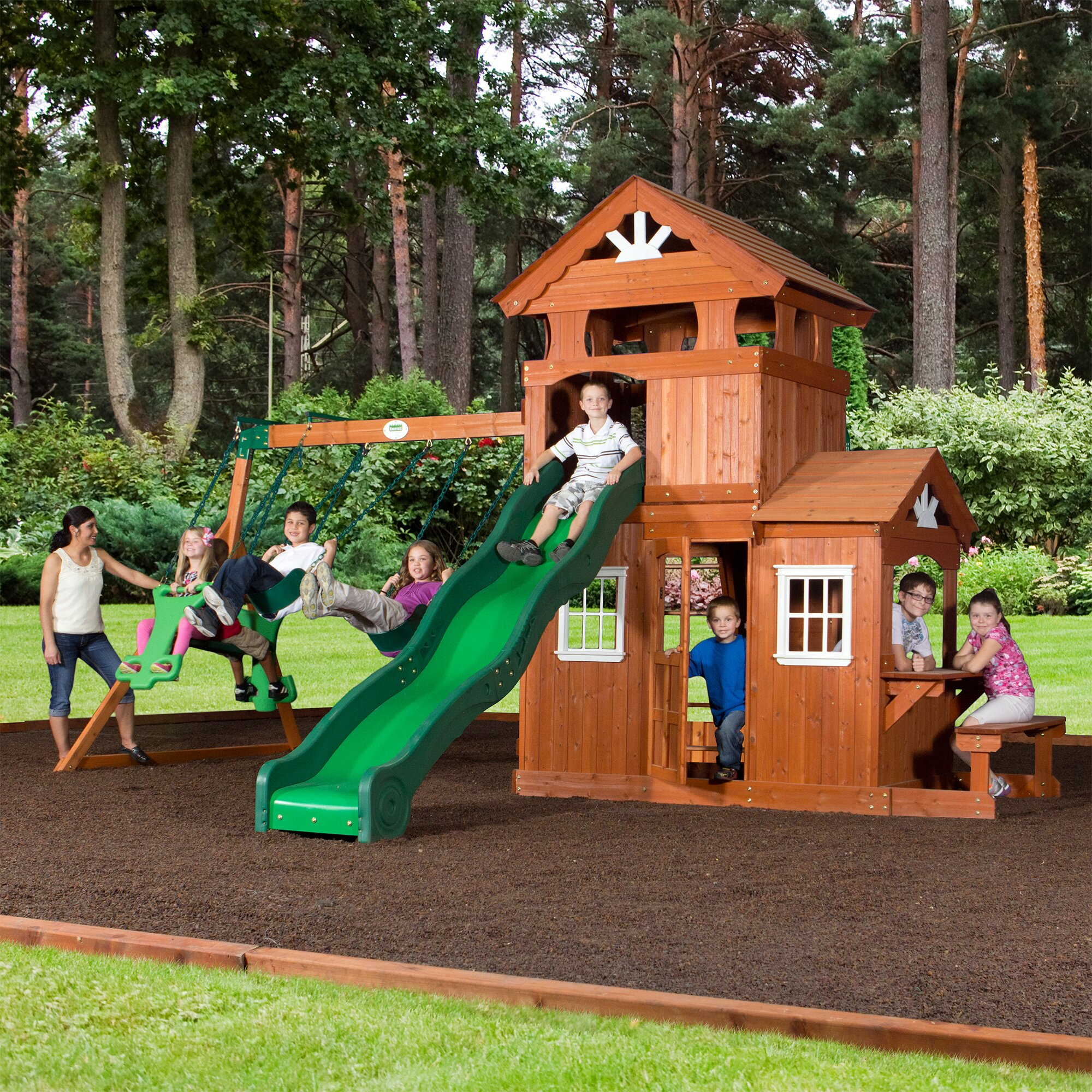 Backyard Discovery Shenandoah All Cedar Swing Set ...